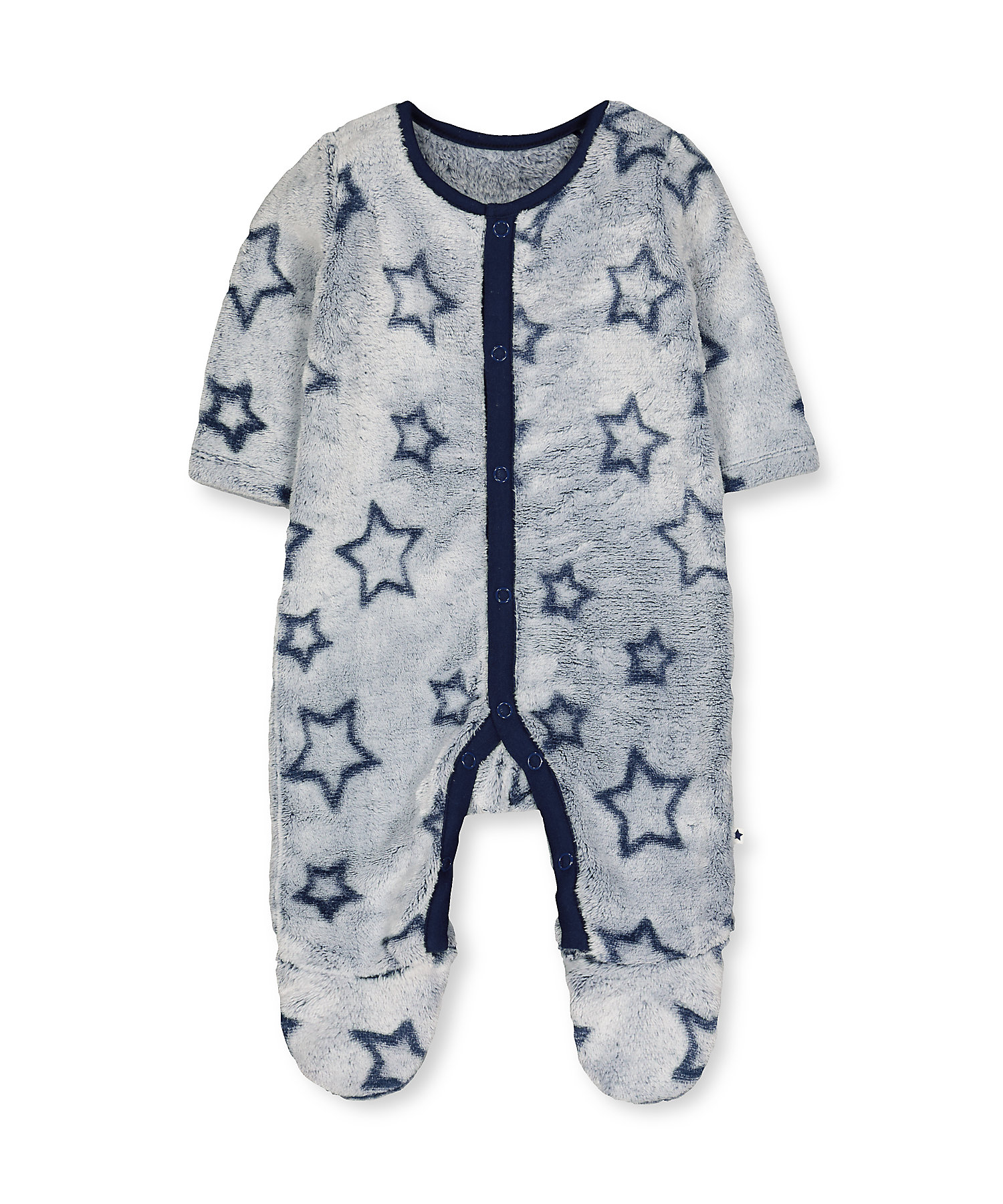 Mothercare | Blue Star Fluffy All In One
