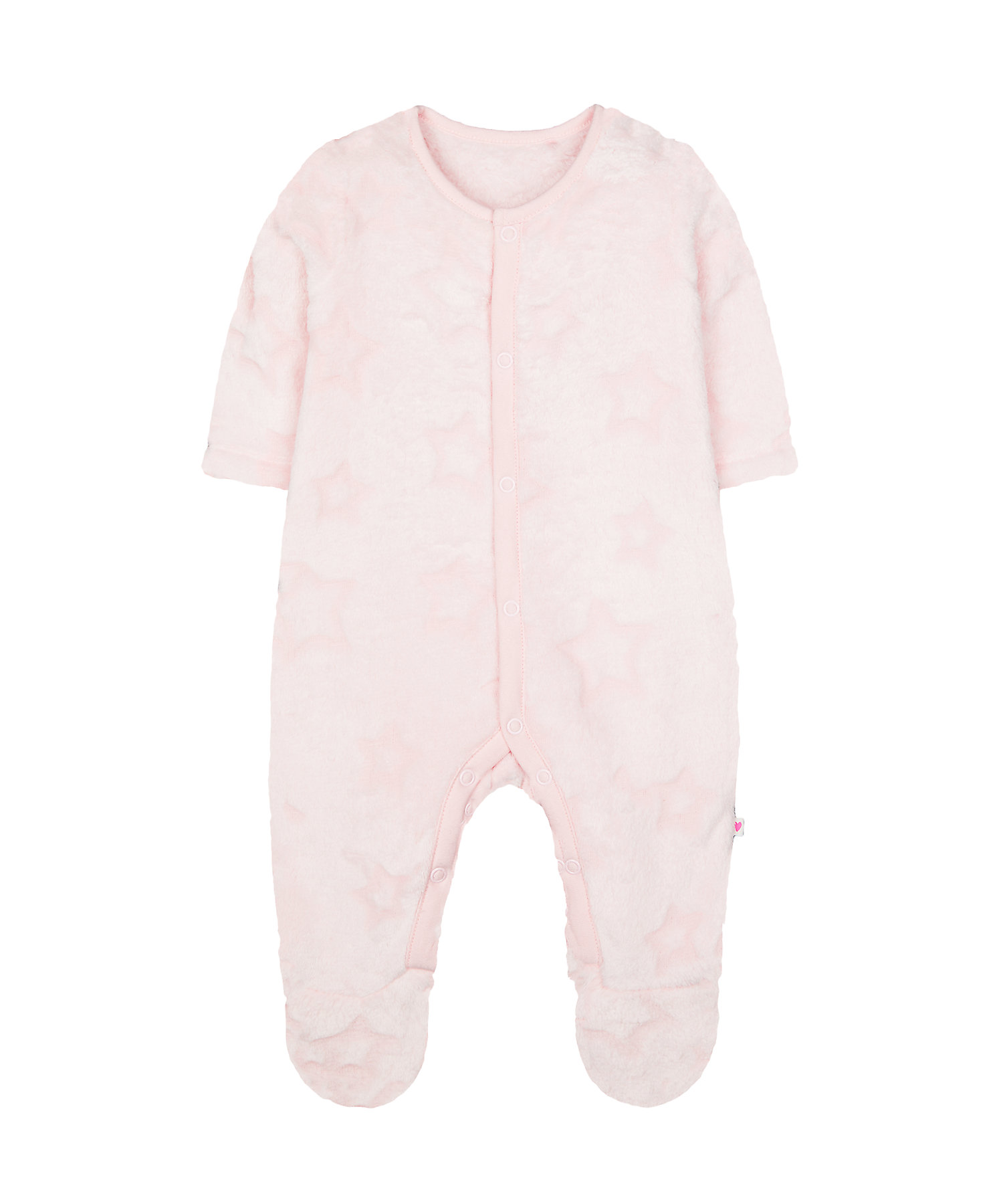 Mothercare | Pink Star Fluffy All In One