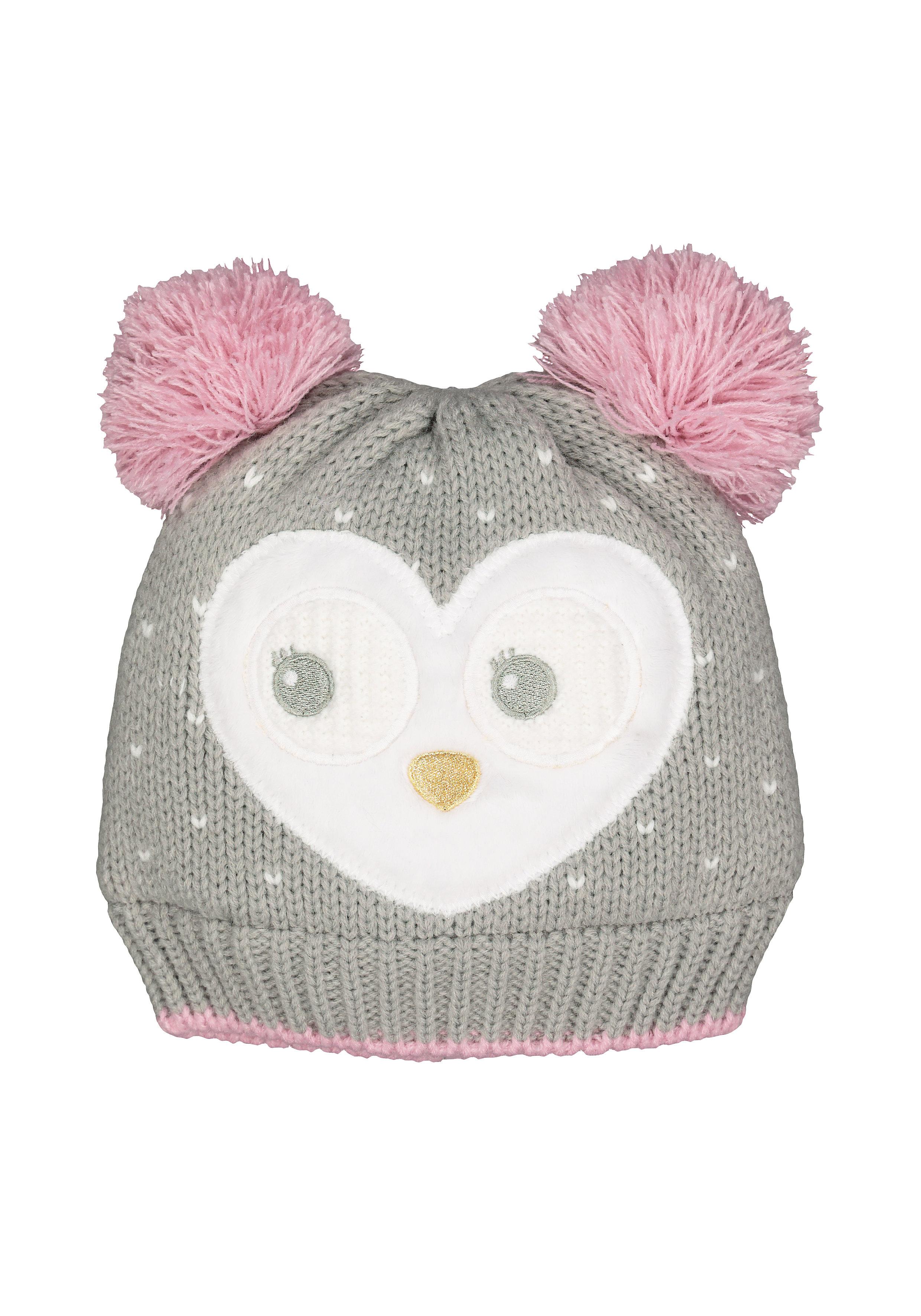 Mothercare | Girls Novelty Owl Beanie Hat - Grey