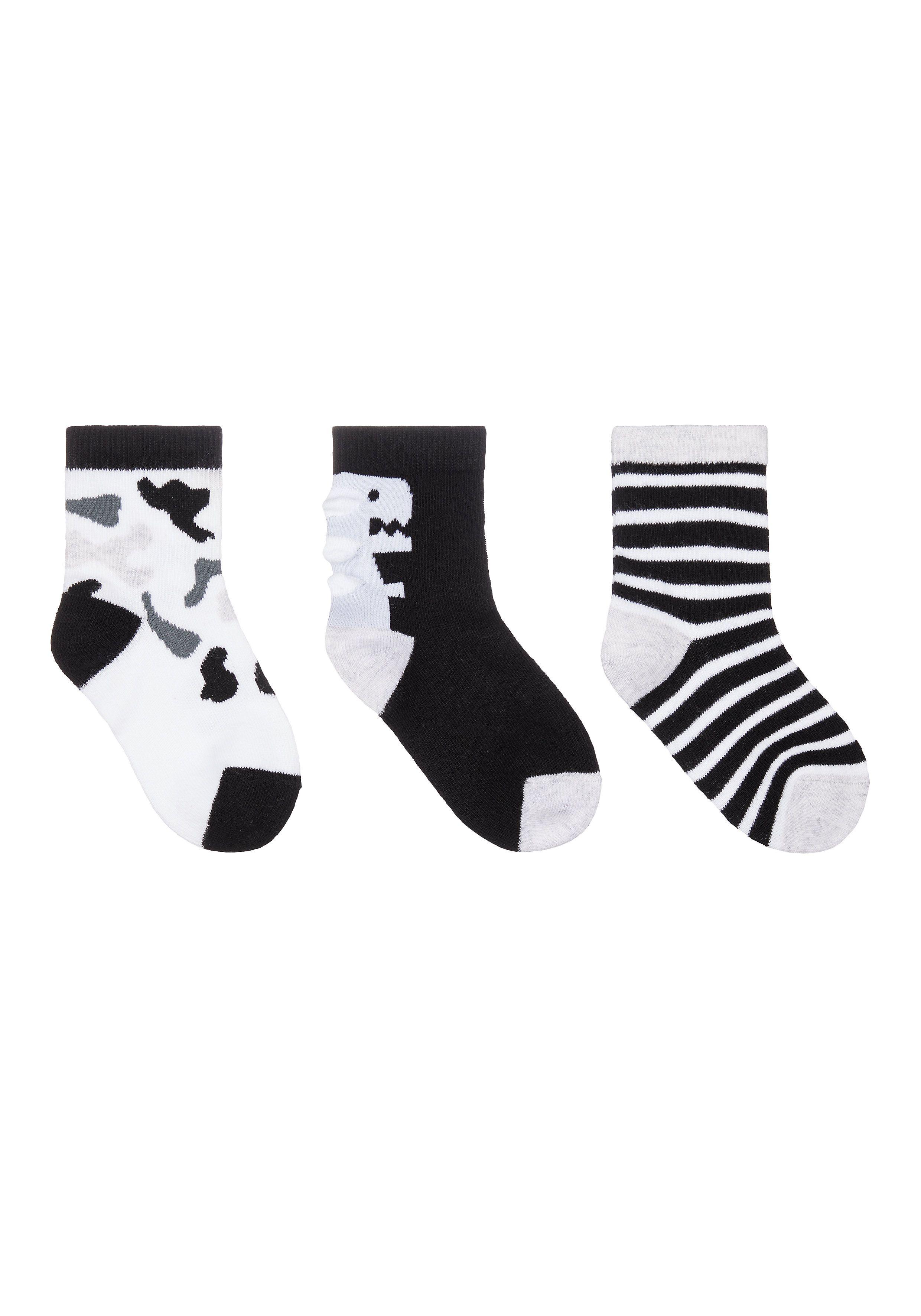 Mothercare | Boys Dino Socks - 3 Pack - Multicolor