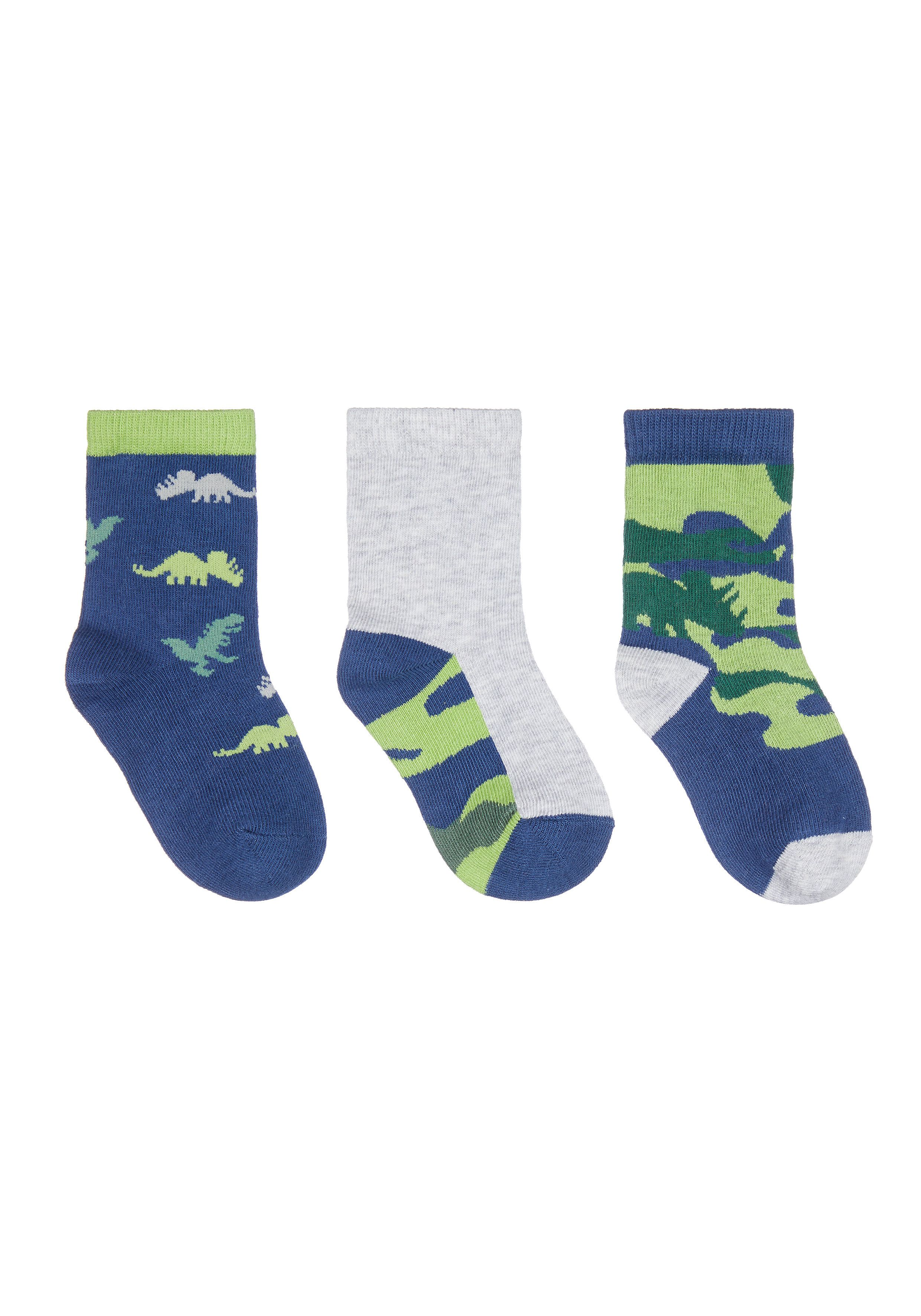 Mothercare | Camo Dino Socks - 3 Pack