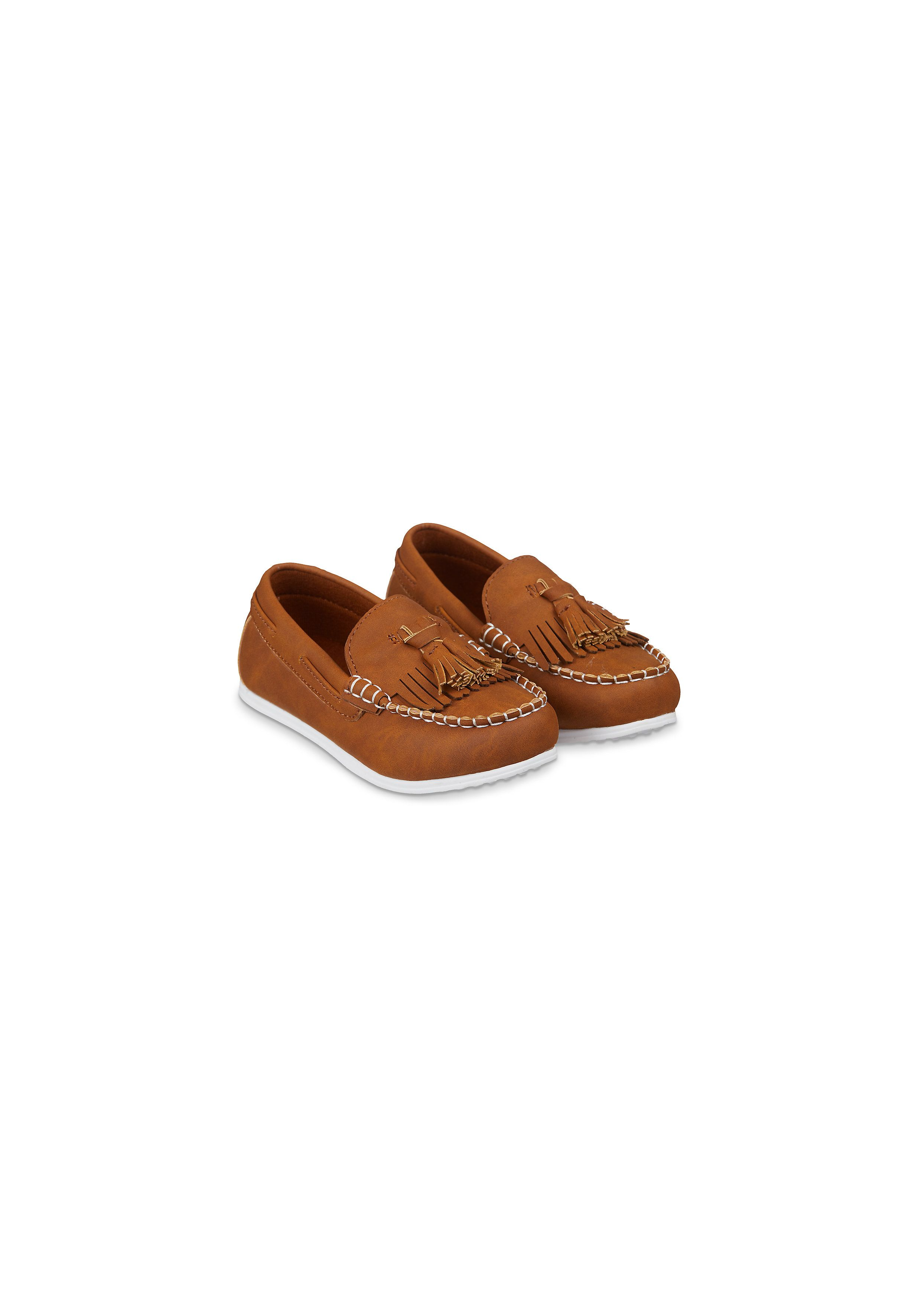 Mothercare   Boys Tan Tassel Loafer Shoes - Tan