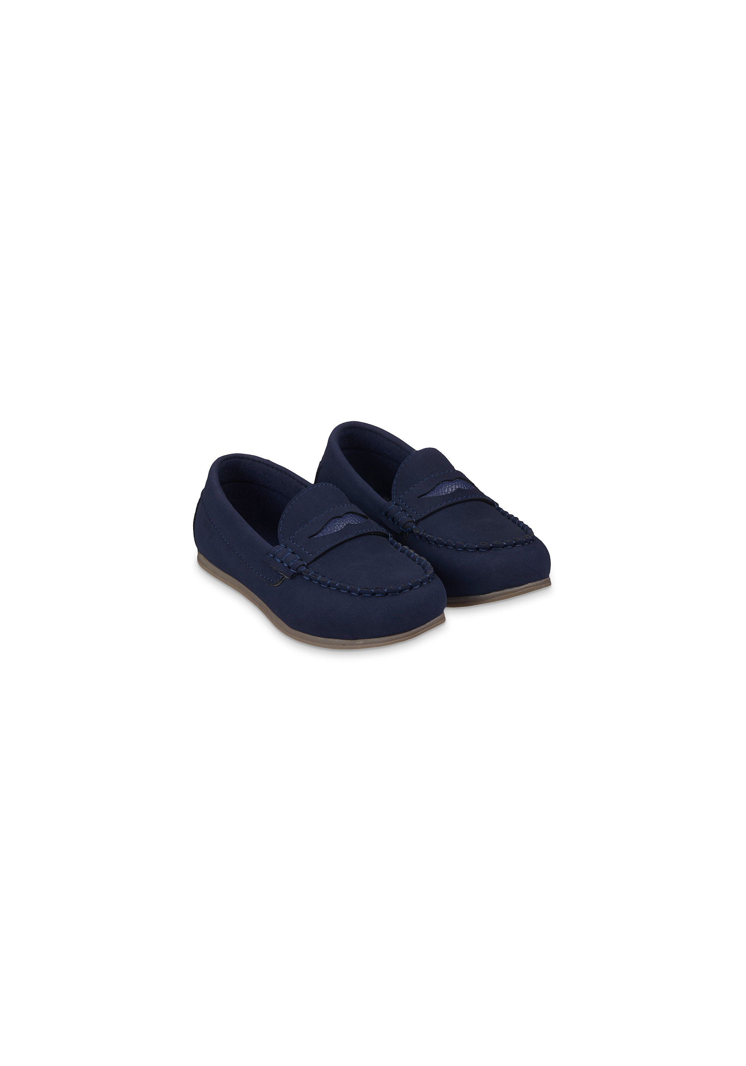 Mothercare   Boys Navy Loafer Shoes - Navy