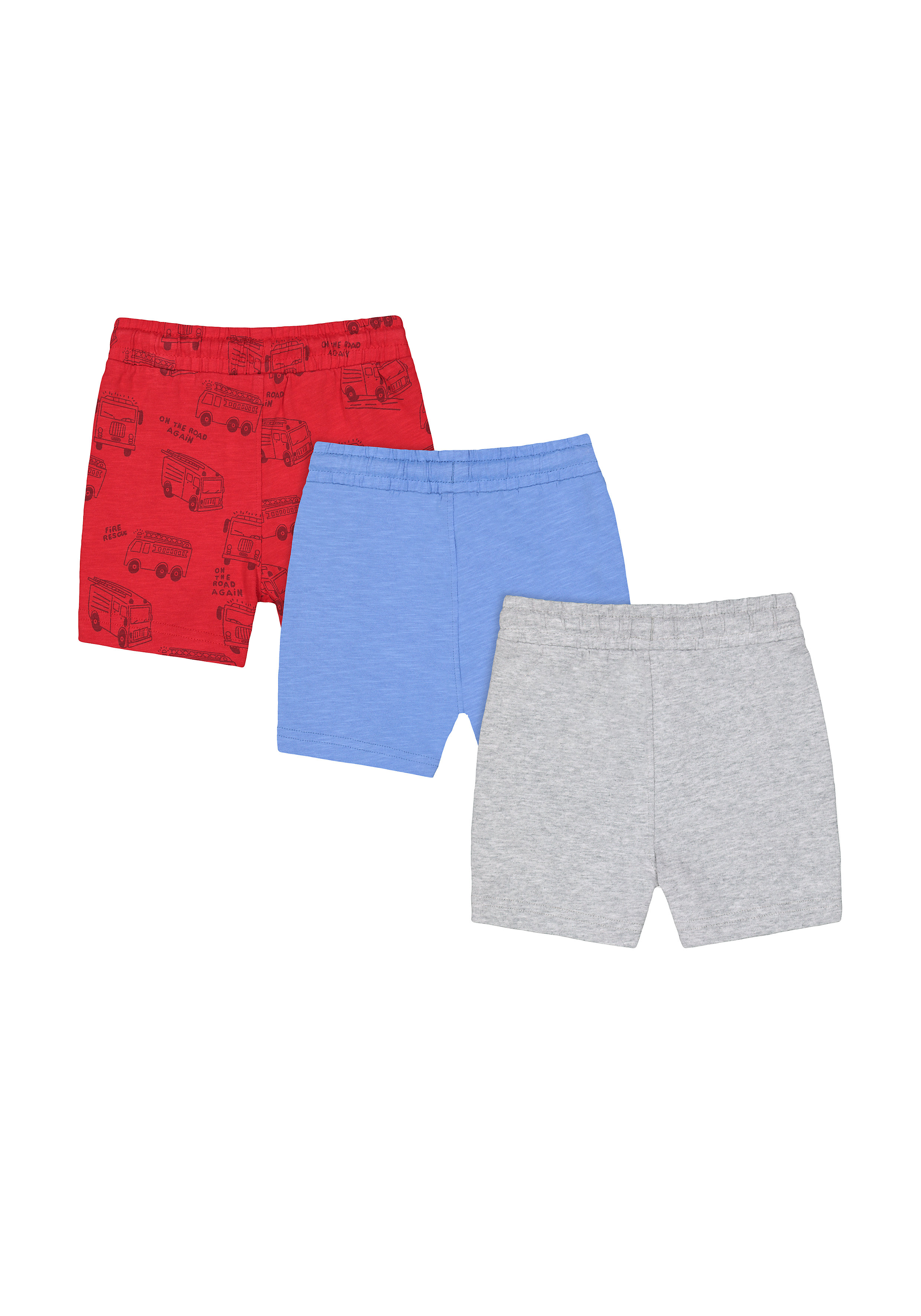 Mothercare | Fire Engine Jersey Shorts - Pack of 3