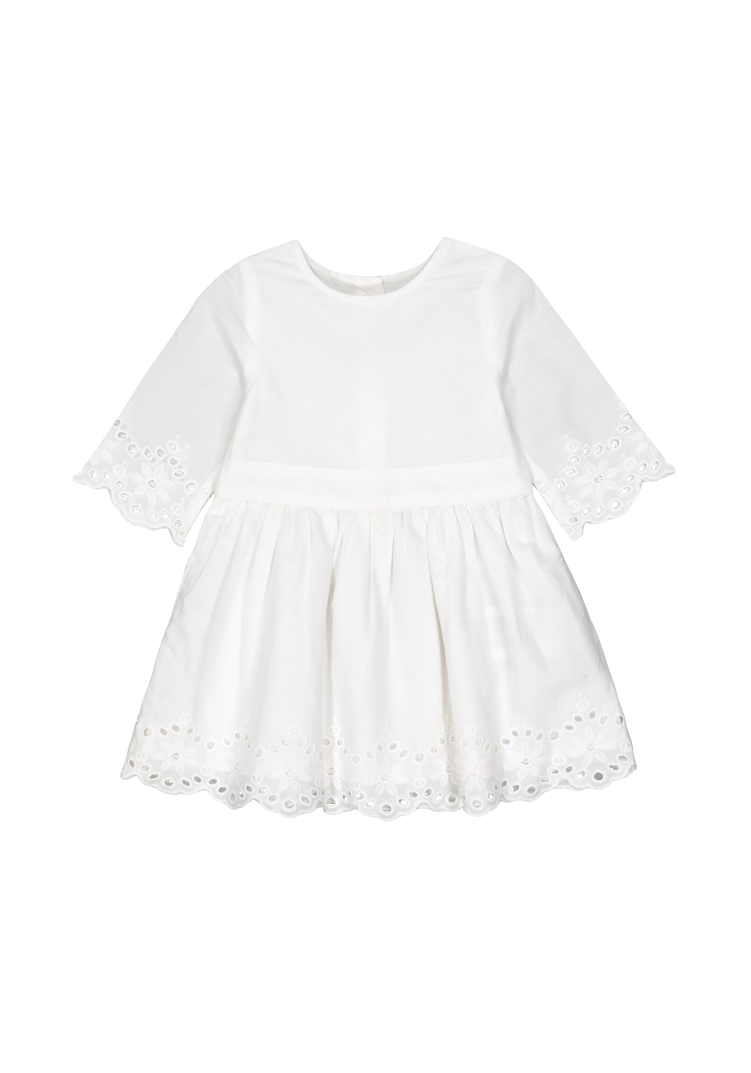 Mothercare | Girls White Broderie Dress - White