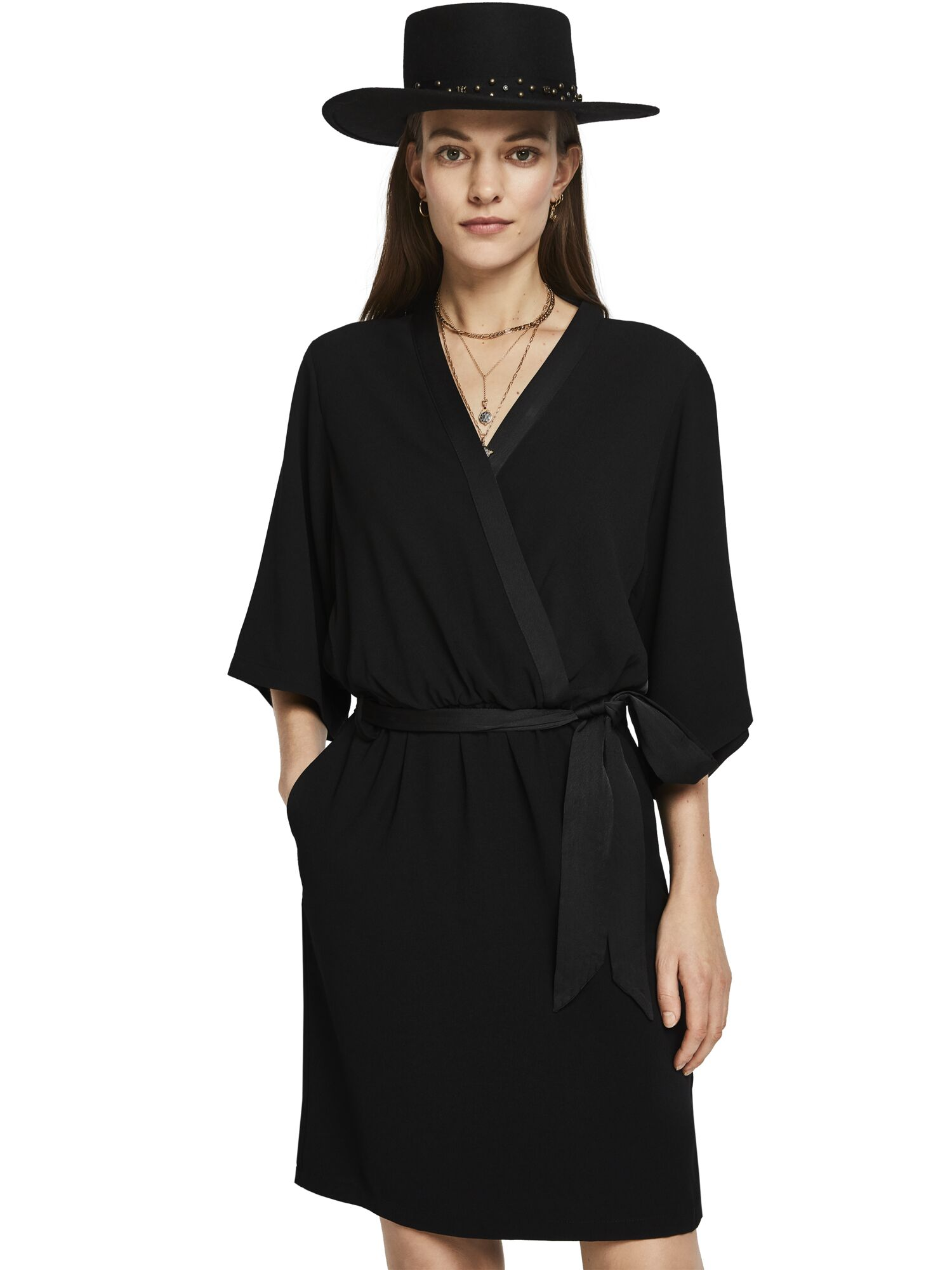 Scotch & Soda | Black Solid Dress