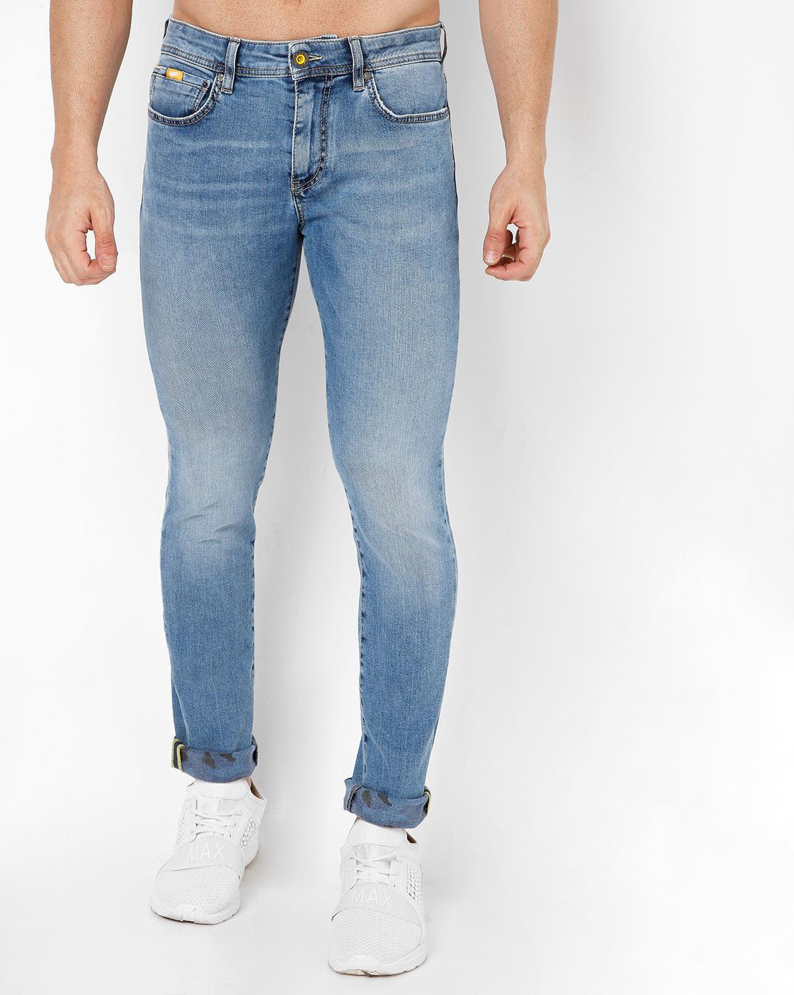GAS | Men's Sax Camo Se Skinny Fit Blue Jeans