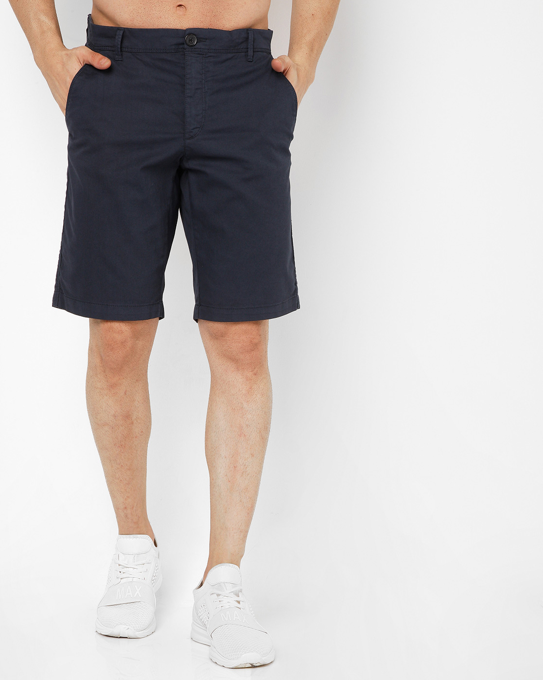 GAS | Men's Grimm Short Up Navy Blue Solid Short