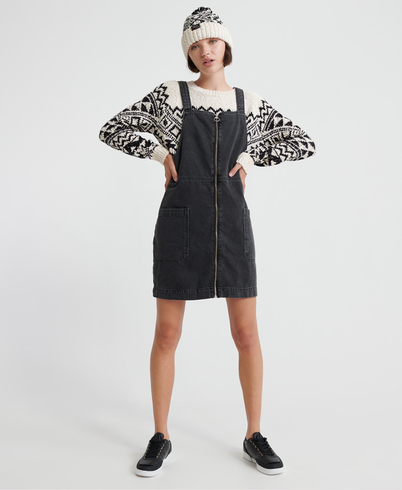 Superdry | DENIM PINAFORE DRESS