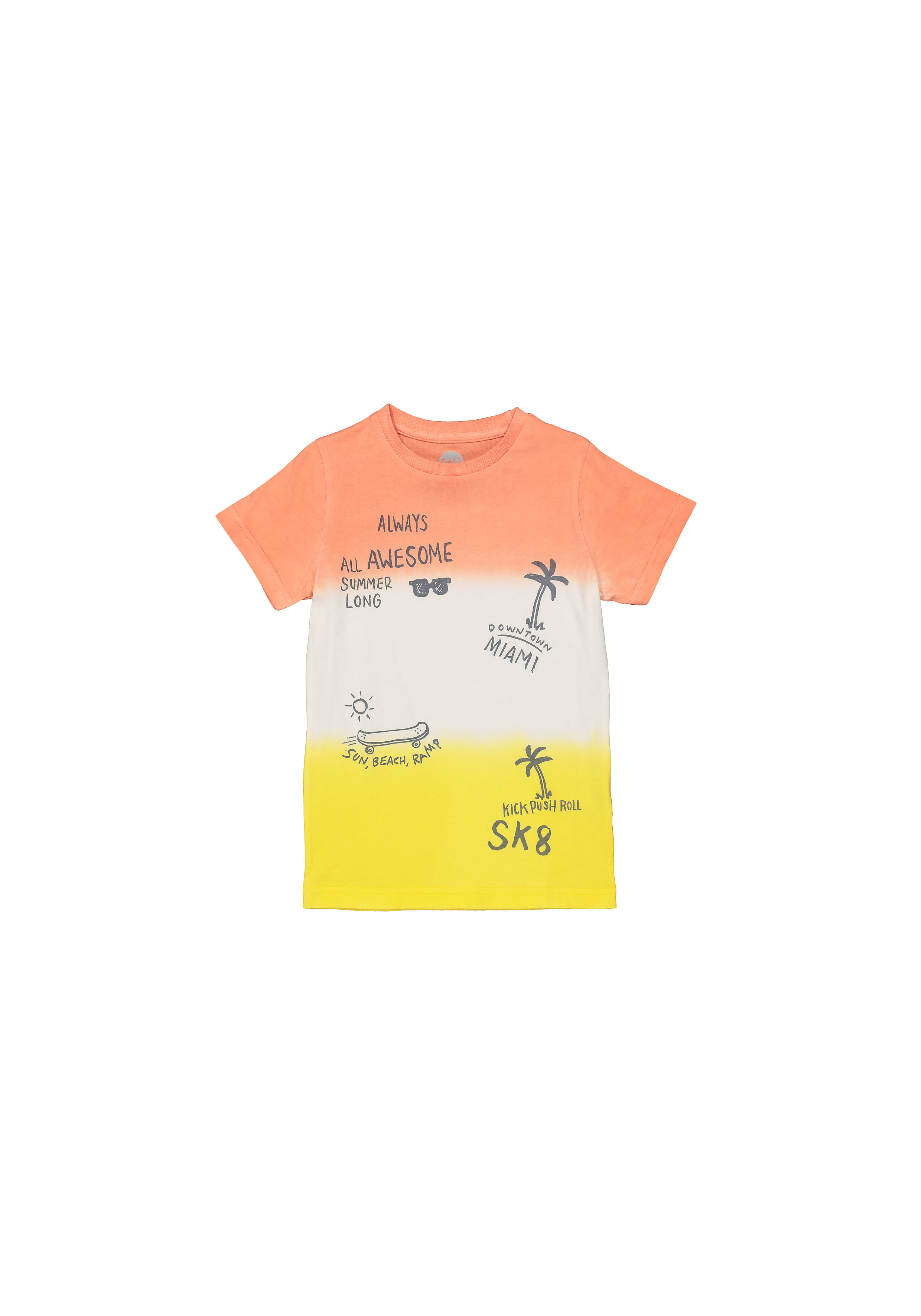Mothercare | Boys Half Sleeves T-Shirt Ombre Print - Pink White Yellow