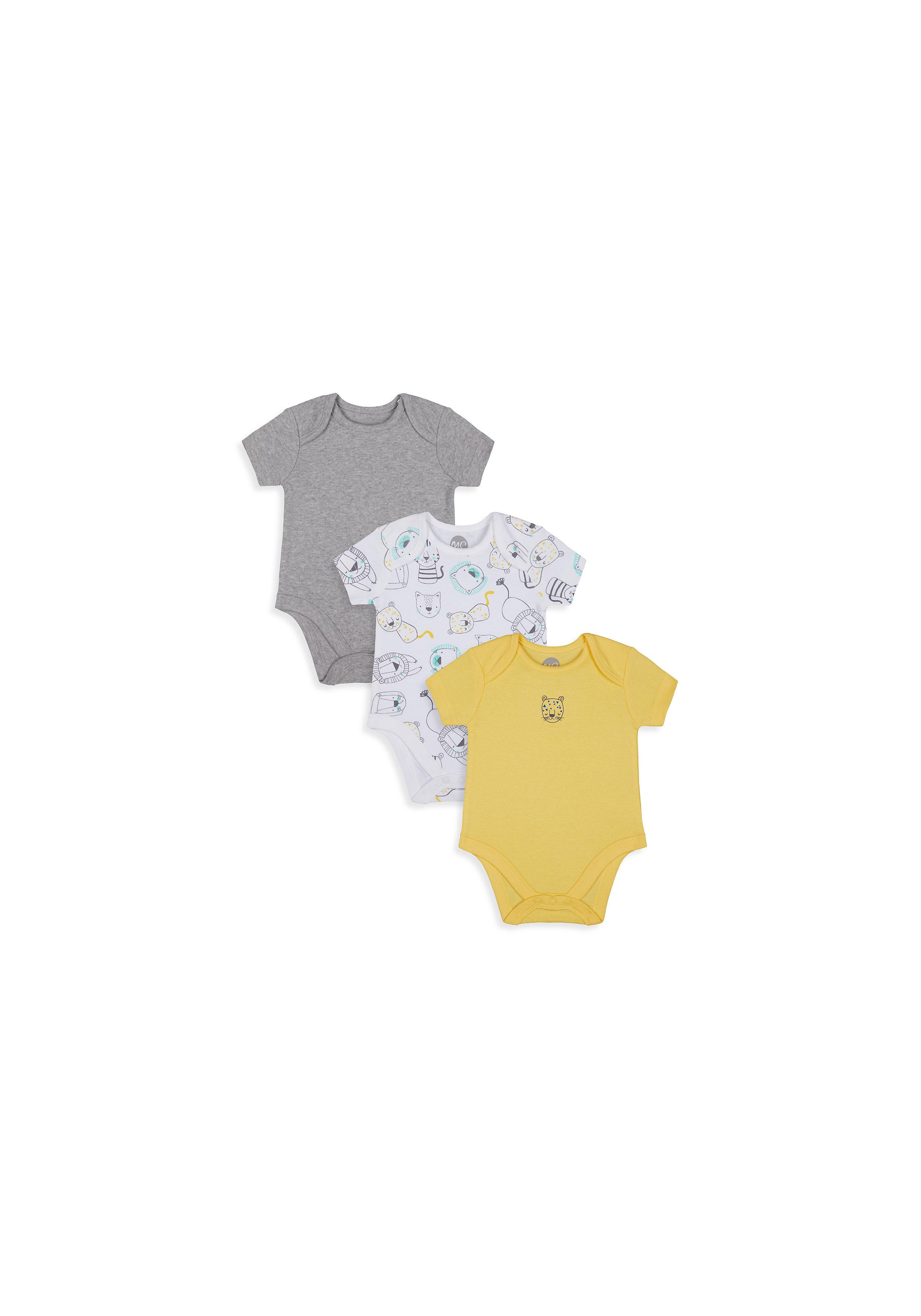 Mothercare | Boys Half Sleeve Bodysuit -  Multicolored - Multicolor