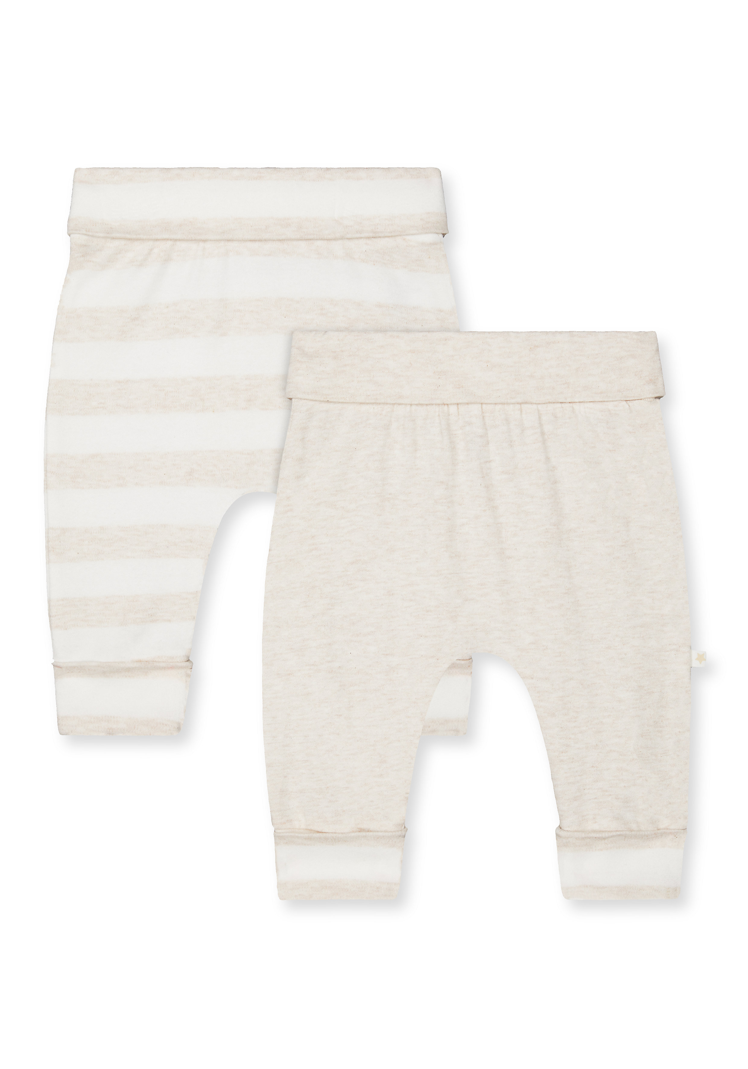 Mothercare | Unisex Joggers Striped - Pack Of 2 - Beige