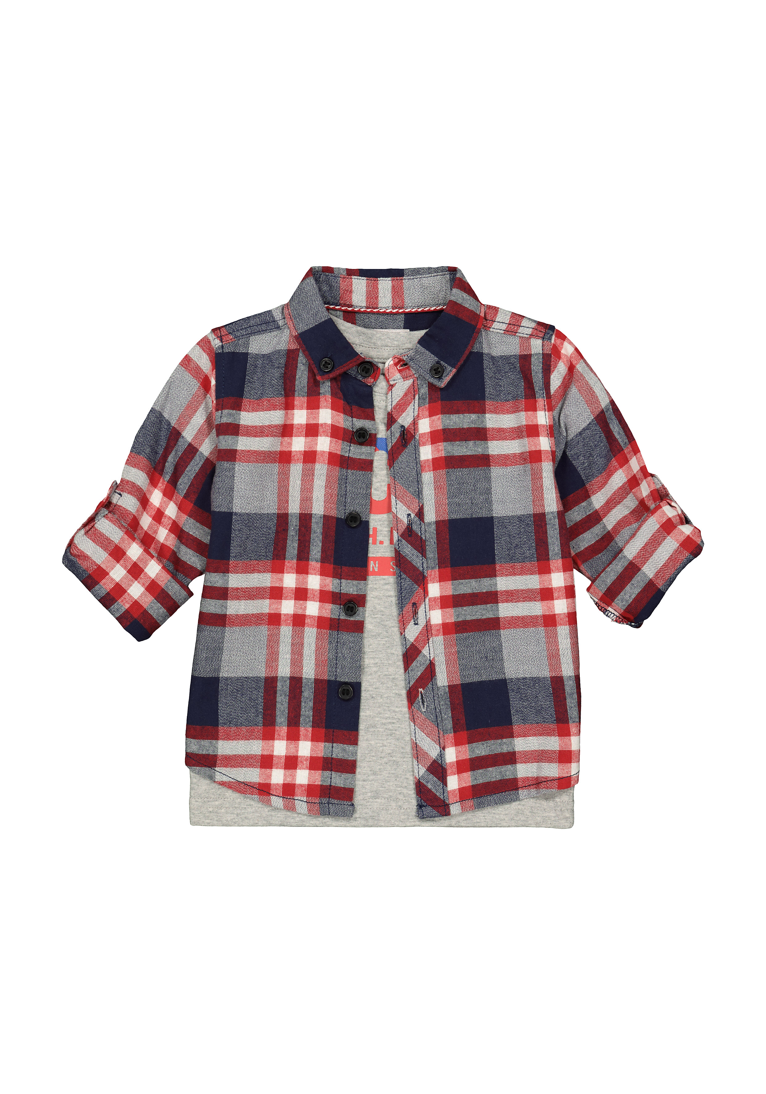 Mothercare | Boys Full Sleeves Casual Shirts  - Pack Of 2 - Multicolor