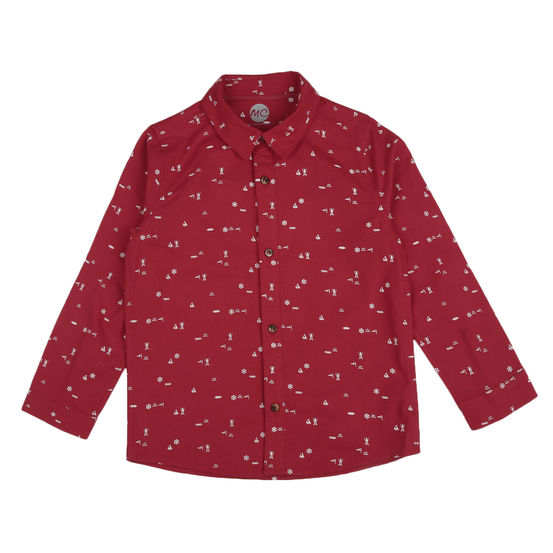 Mothercare | Boys Half sleeves Printed Shirt - Red