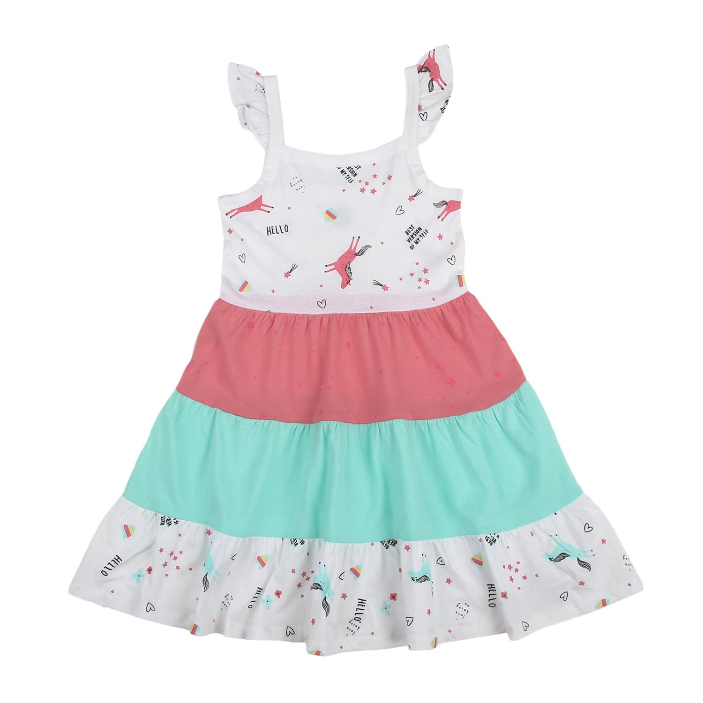 Mothercare | Girls Sleeveless Unicorn print Tiered dress - Multicolor