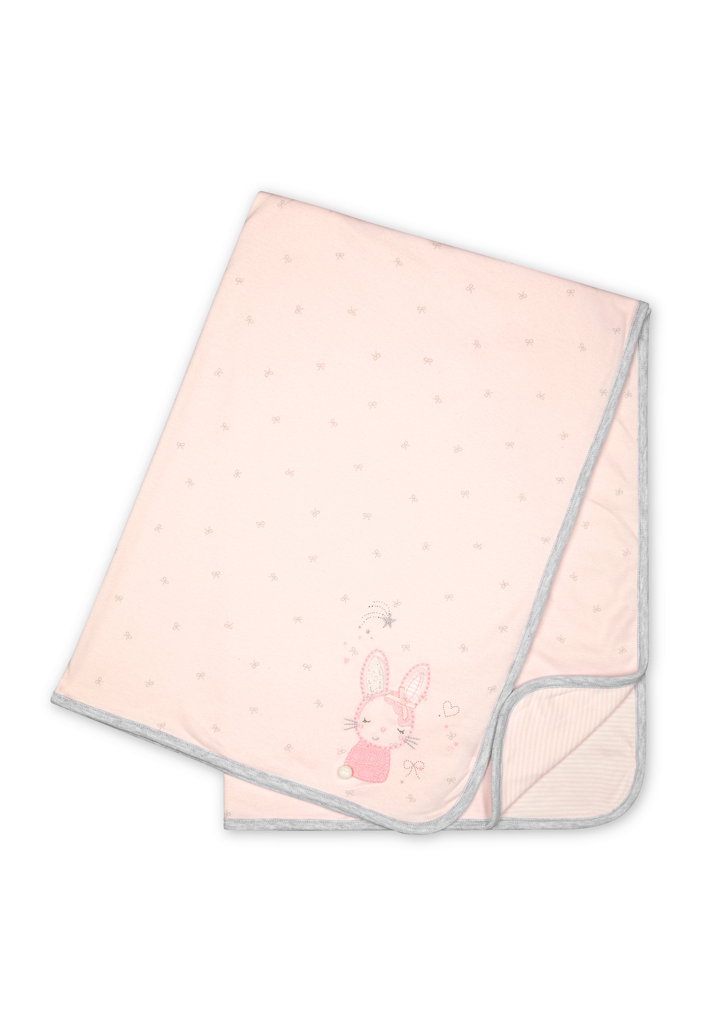 Mothercare | Girls Bunny embroidery Shawl - Pink