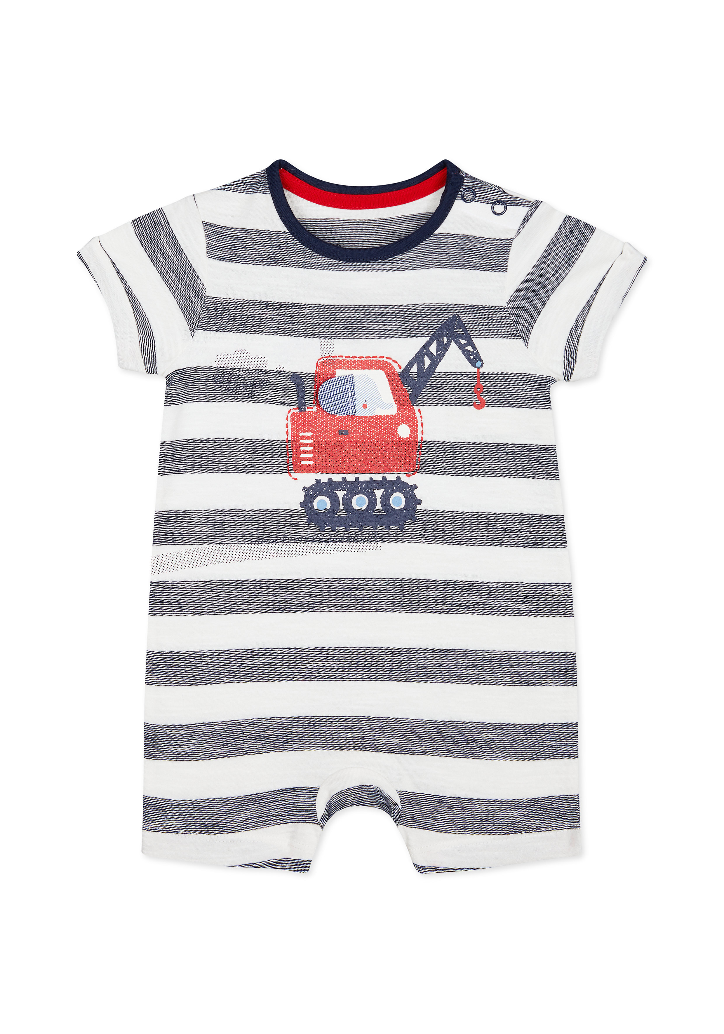 Mothercare | Boys Half Sleeves Rompers  - Blue
