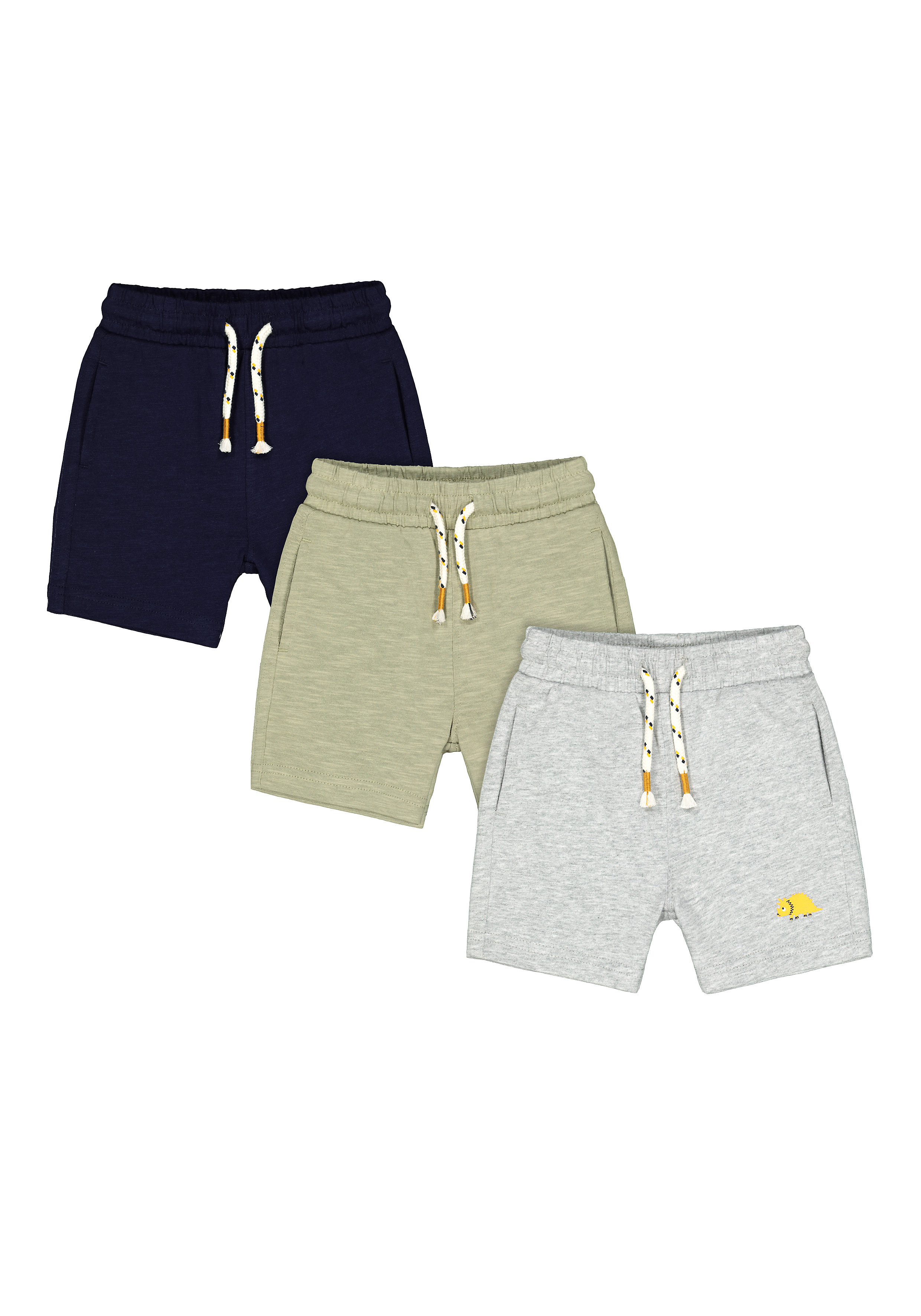 Mothercare | Boys Knitted Shorts Dino Print - Pack Of 3 - Multicolor