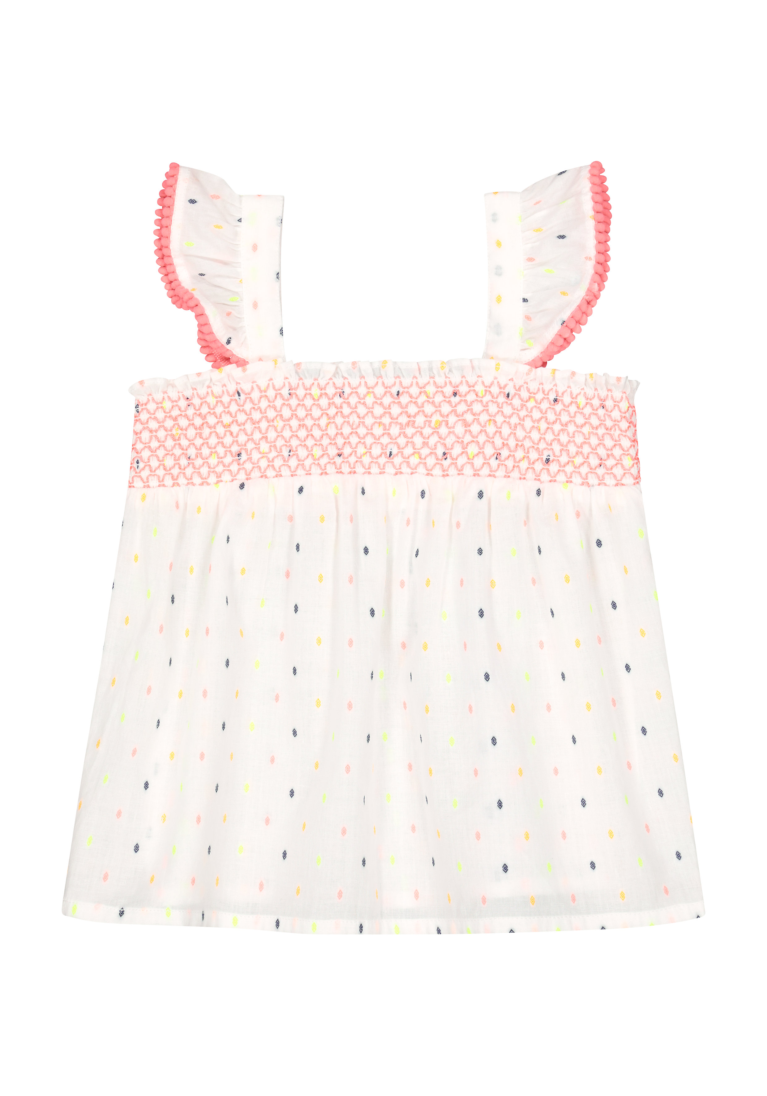 Mothercare | Girls Sleeveless Lace Details Top - White