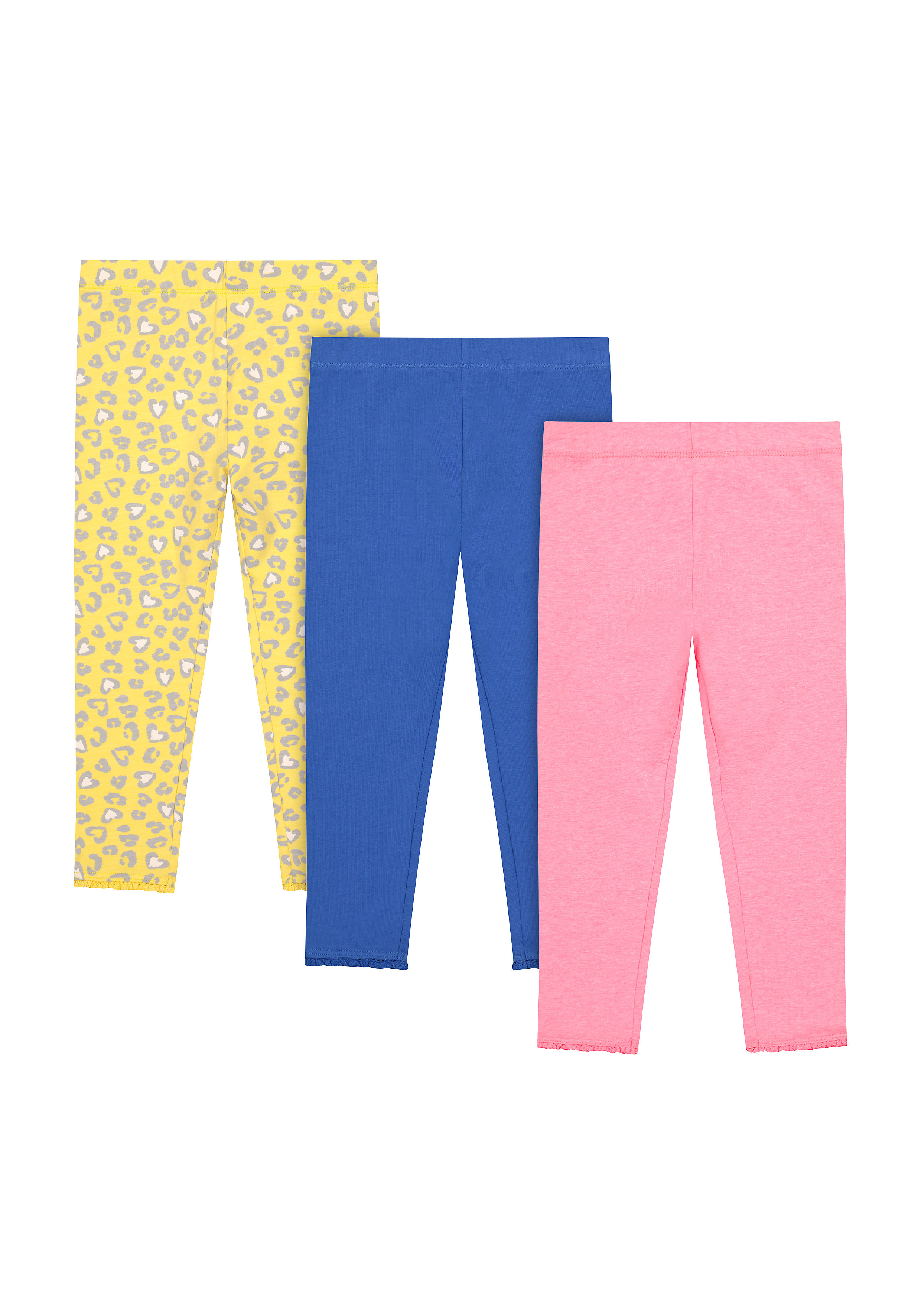 Mothercare | Girls Leggings  - Pack Of 3 - Multicolor