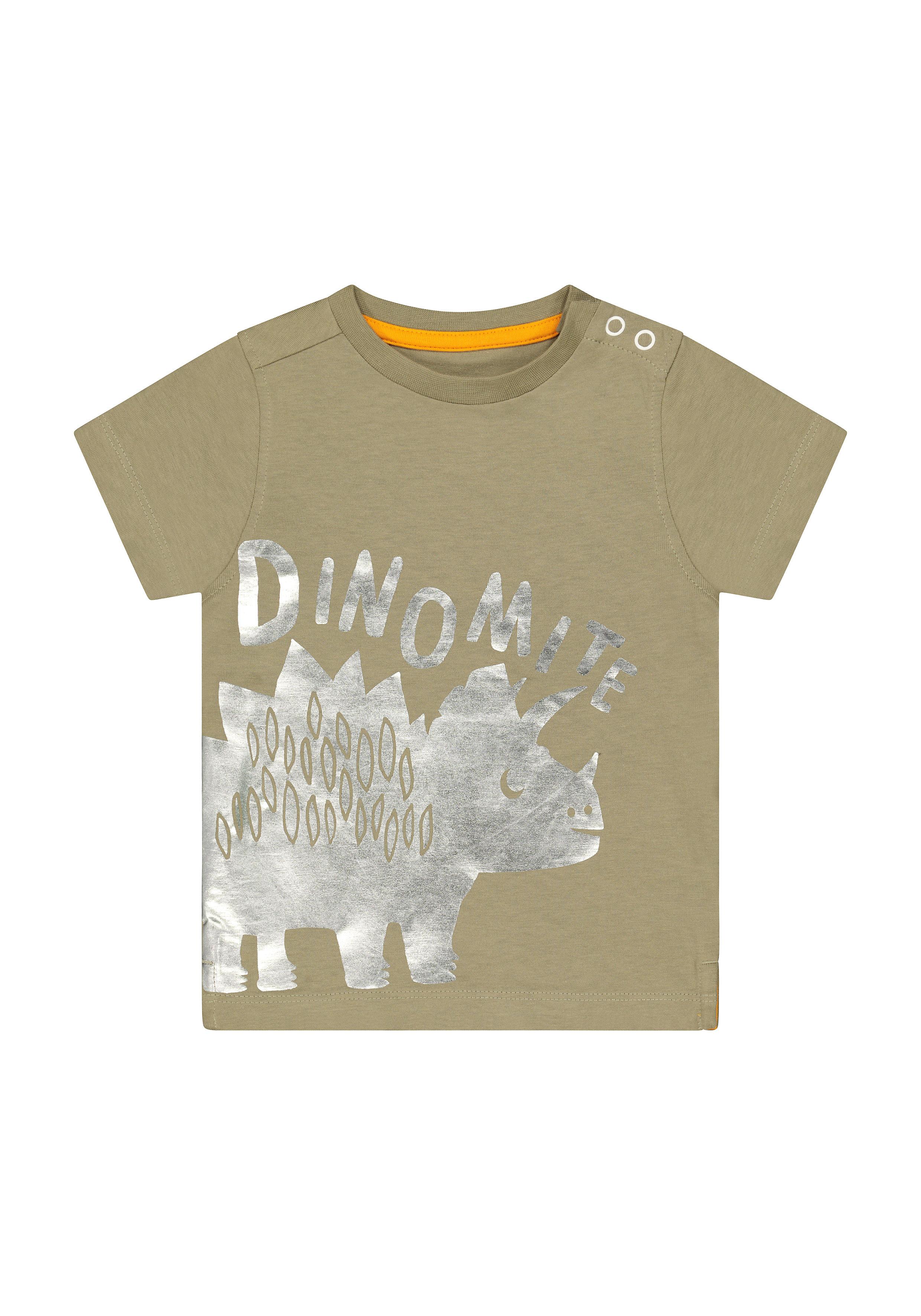 Mothercare   Boys Half Sleeves Round Neck T-shirts  - Khaki