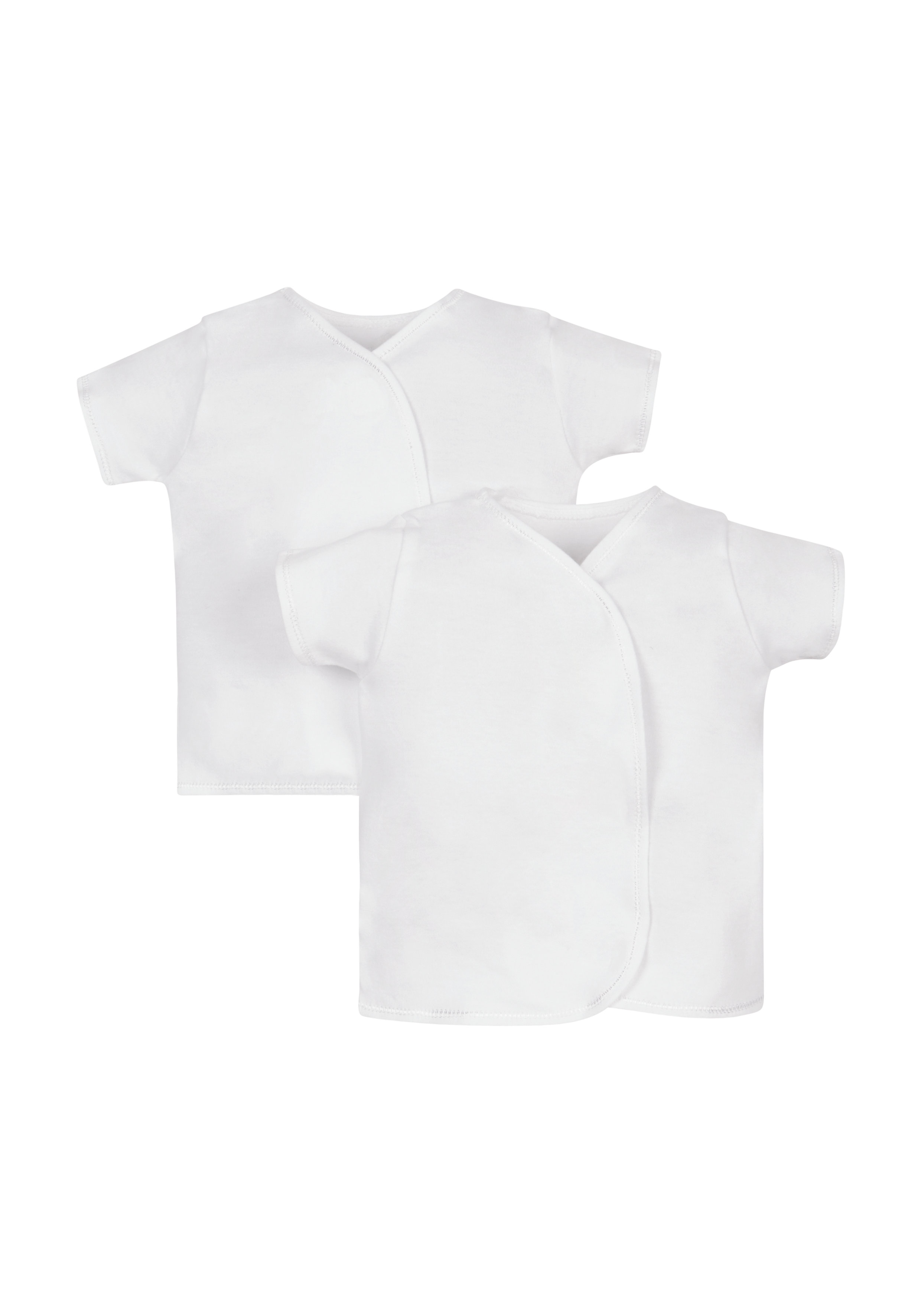 Mothercare | Unisex Half Sleeves Top - Pack Of 2 - White