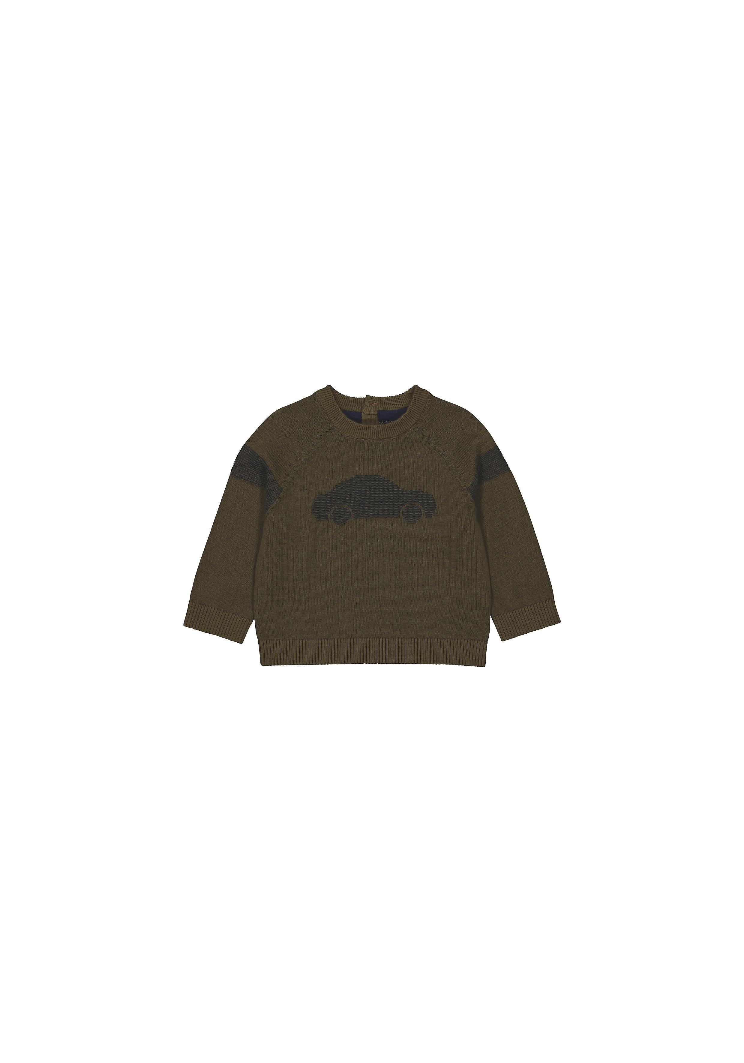 Mothercare   Boys Full Sleeves Sweaters  - Khaki