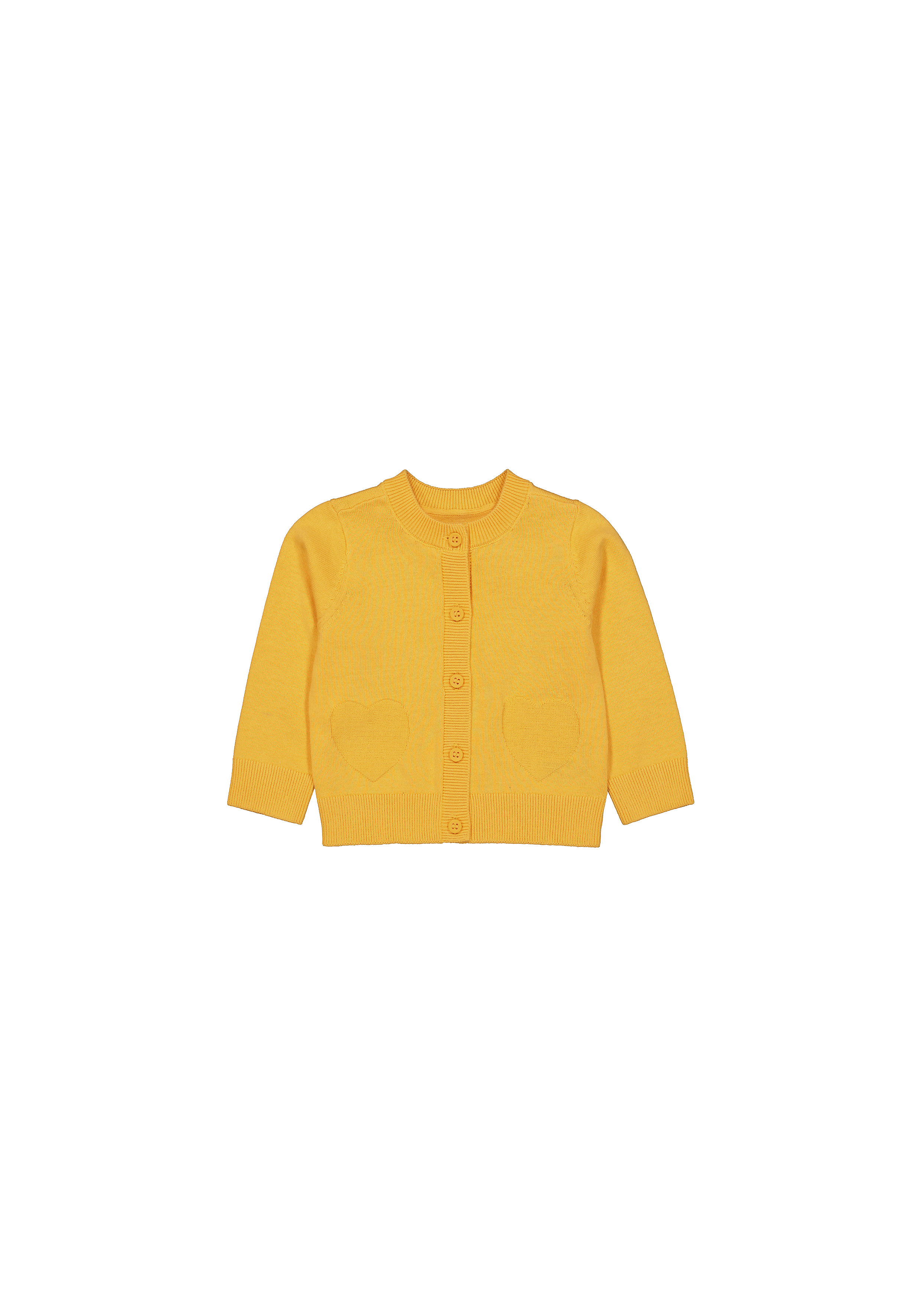 Mothercare | Girls Full Sleeves Sweaters  - Mustard