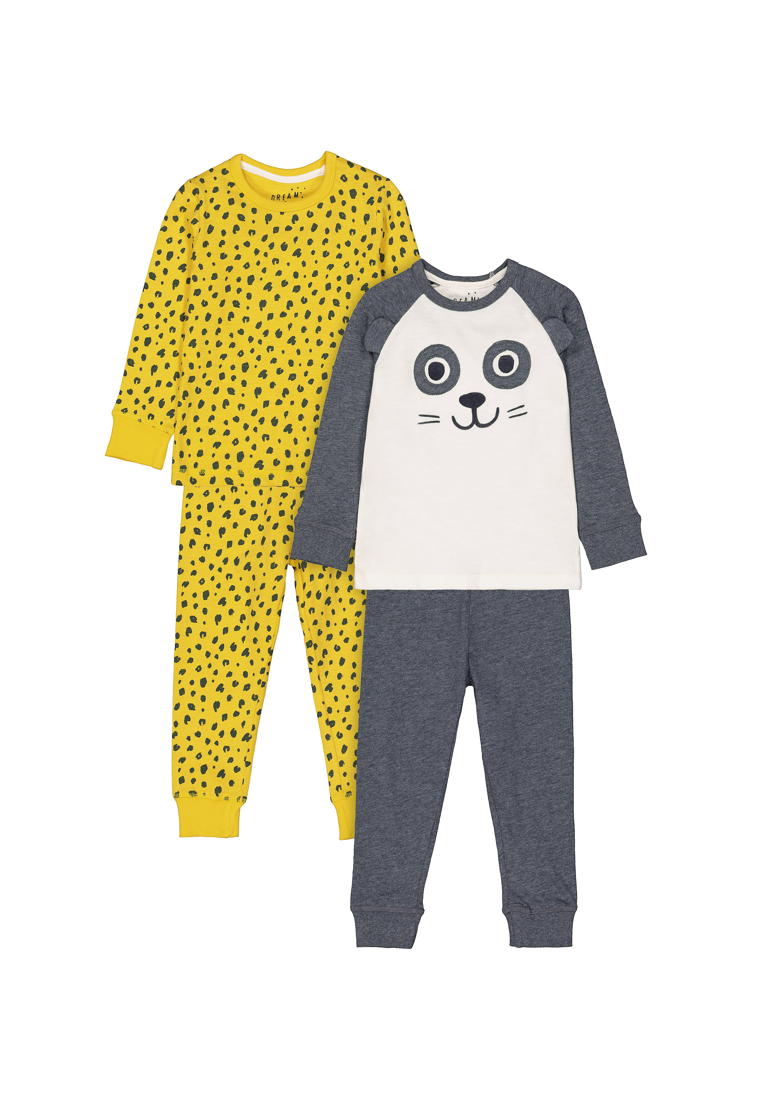 Mothercare   Boys Full sleeves Printed and 3D details Pyjamas - Pack of 2 - Multicolor