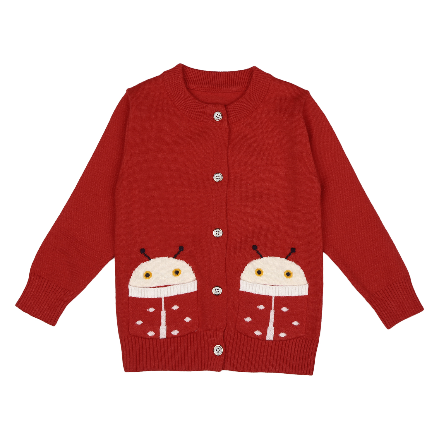 Mothercare   Girls Full sleeves Sweater - Red