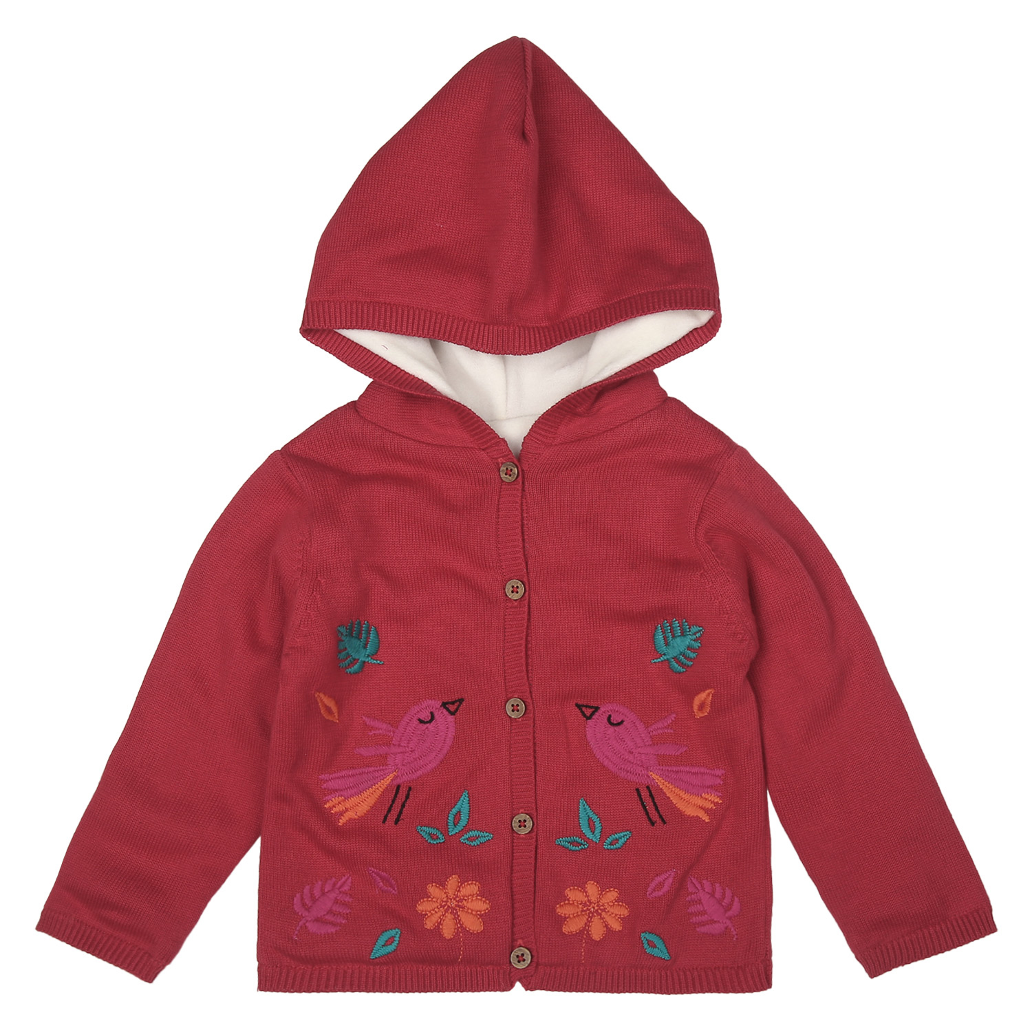Mothercare | Girls Full Sleeves Embroidered Sweatshirt - Pink