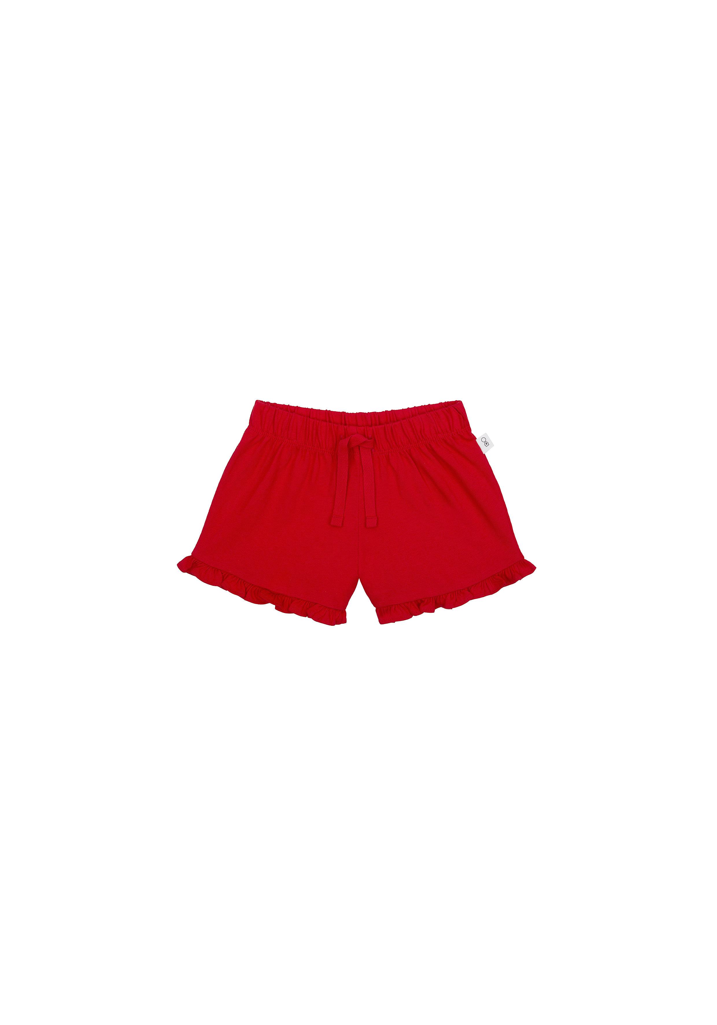 Mothercare | Girls Shorts Frilled Hem - Red