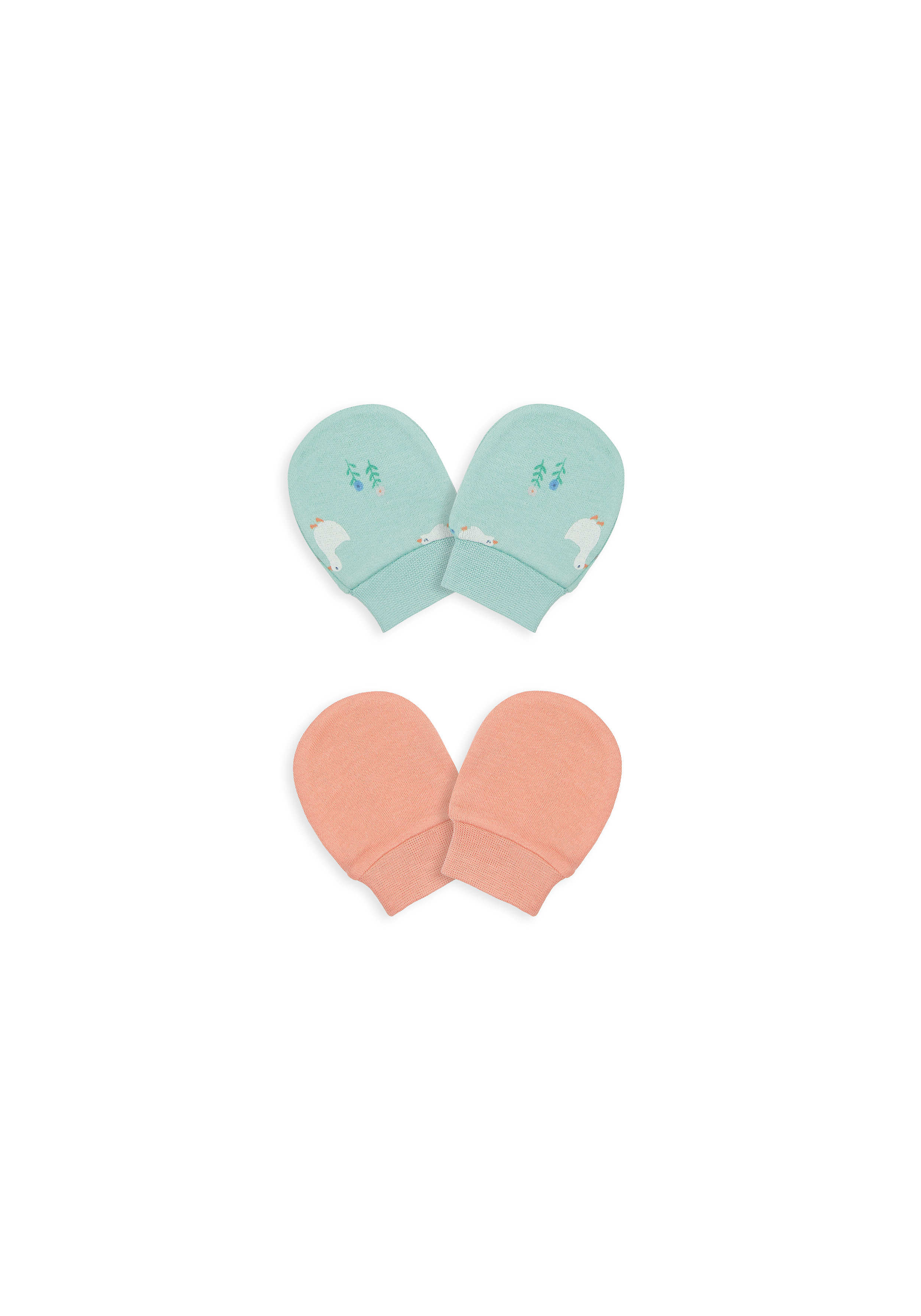 Mothercare   Girls Mitts Printed - Pack Of 2 - Multicolor
