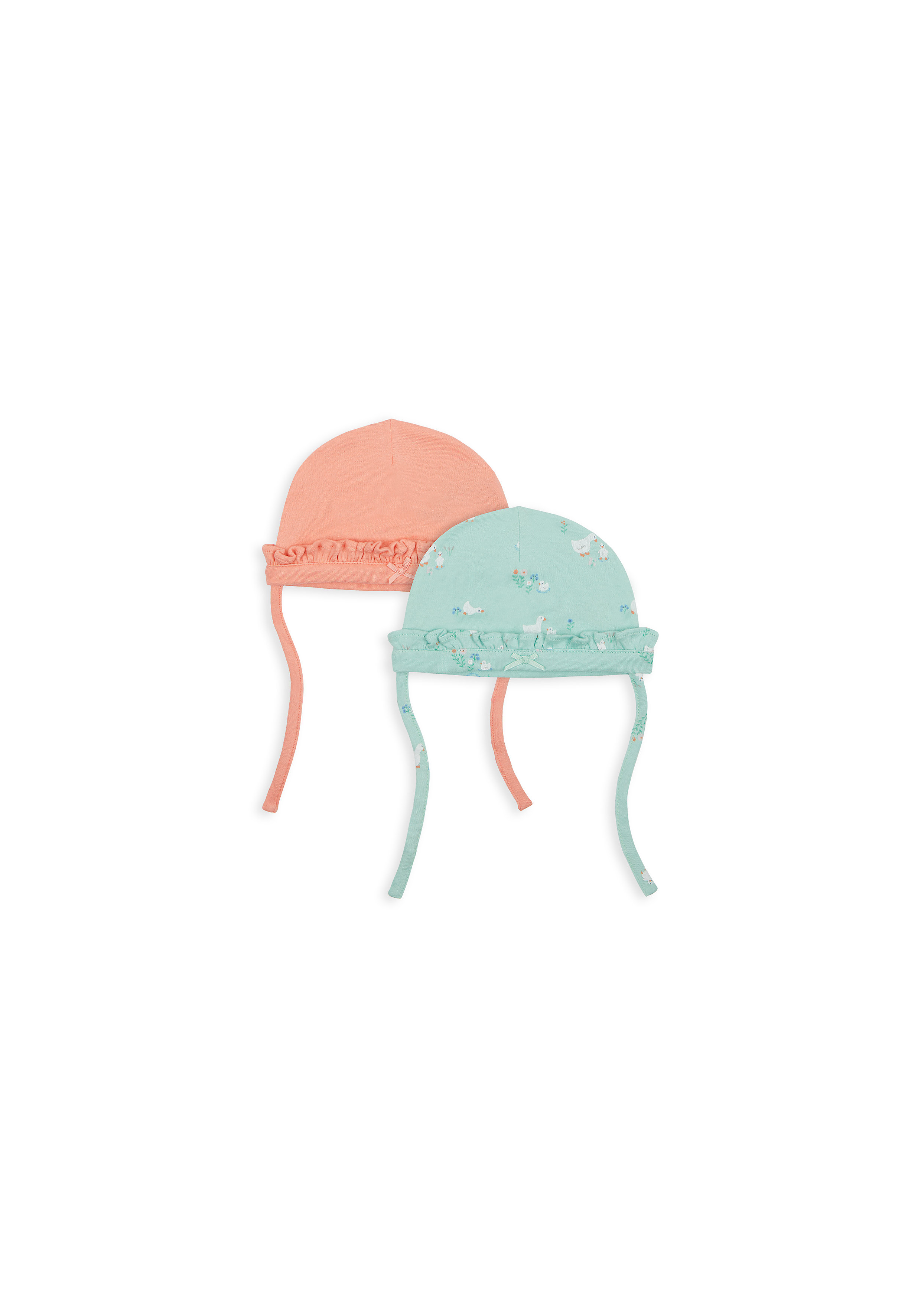 Mothercare | Girls Hat Frill Detail - Pack Of 2 - Multicolor