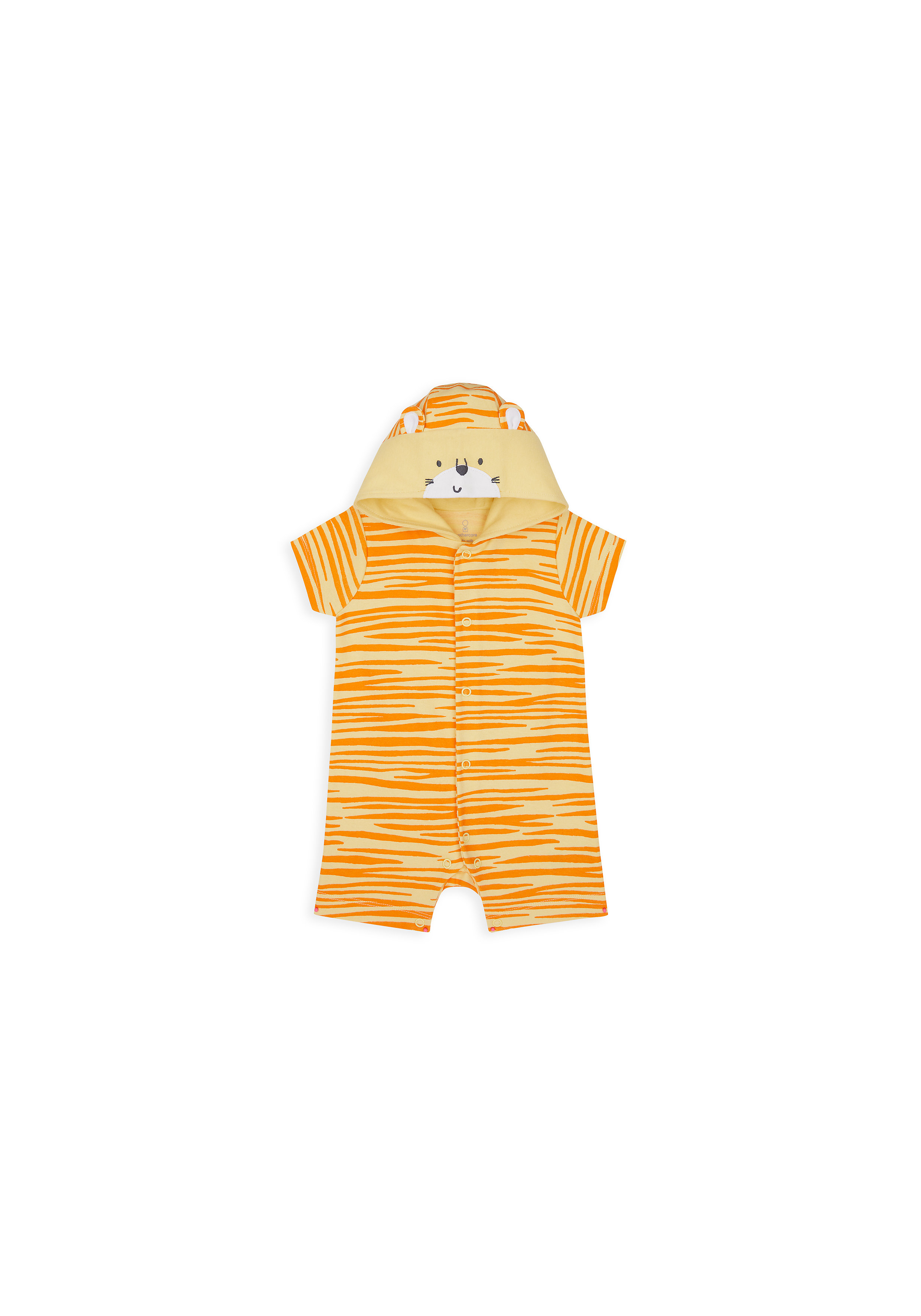 Mothercare | Unisex Half Sleeves Romper 3D Details - Yellow