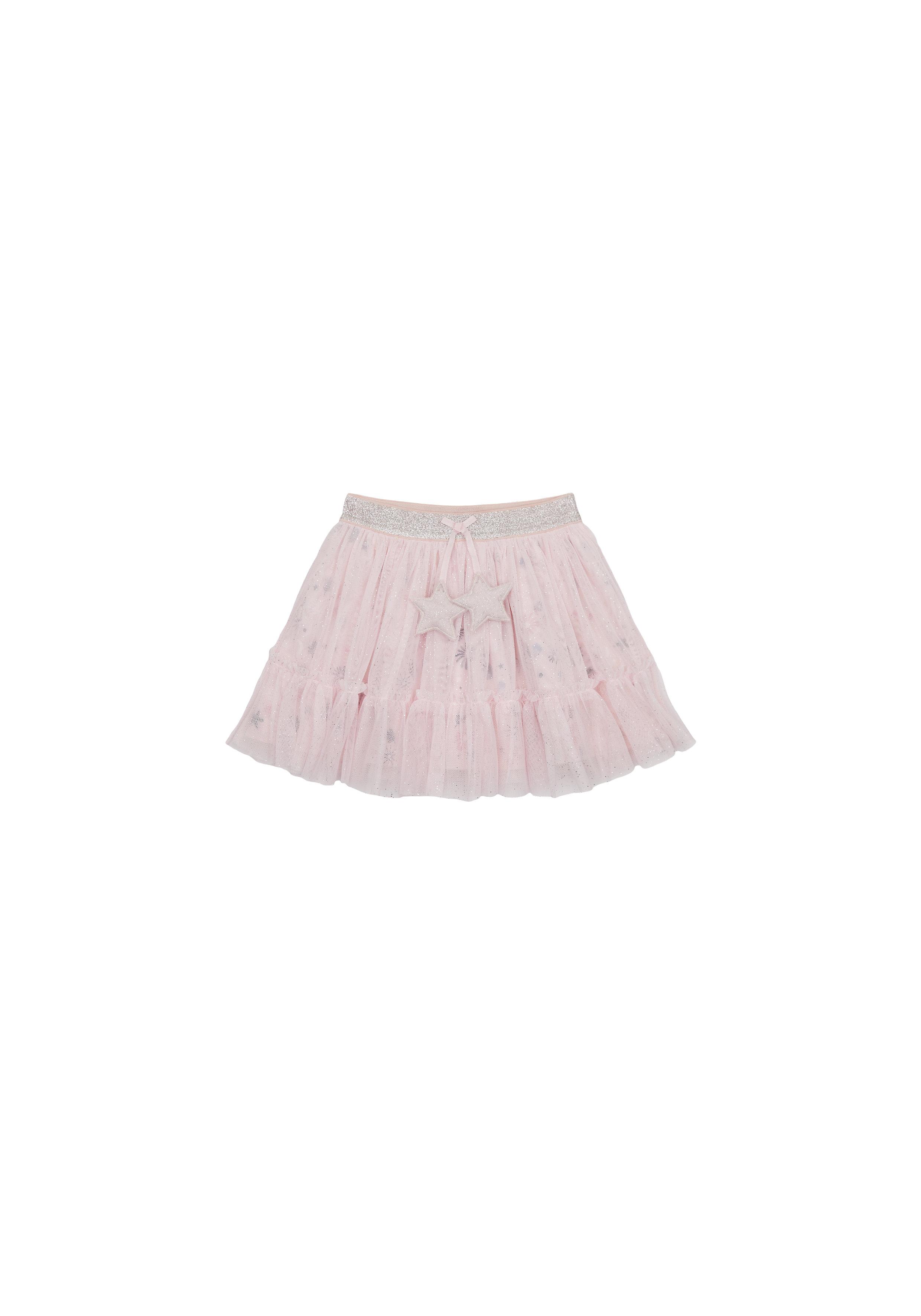 Mothercare   Girls Mesh Skirt Star Detail - Pink
