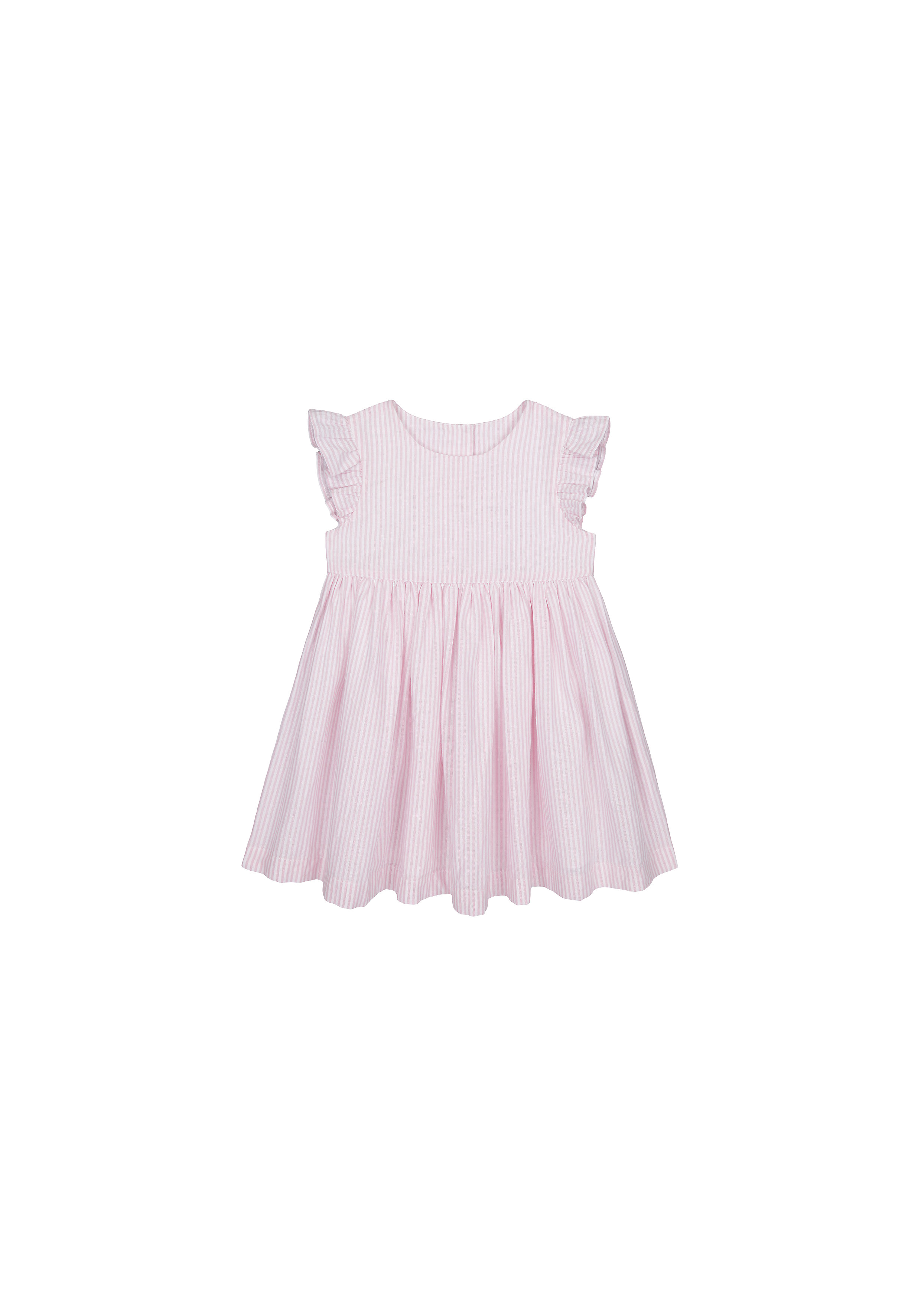 Mothercare   Girls Half Sleeves Woven Dress Striped - Pink