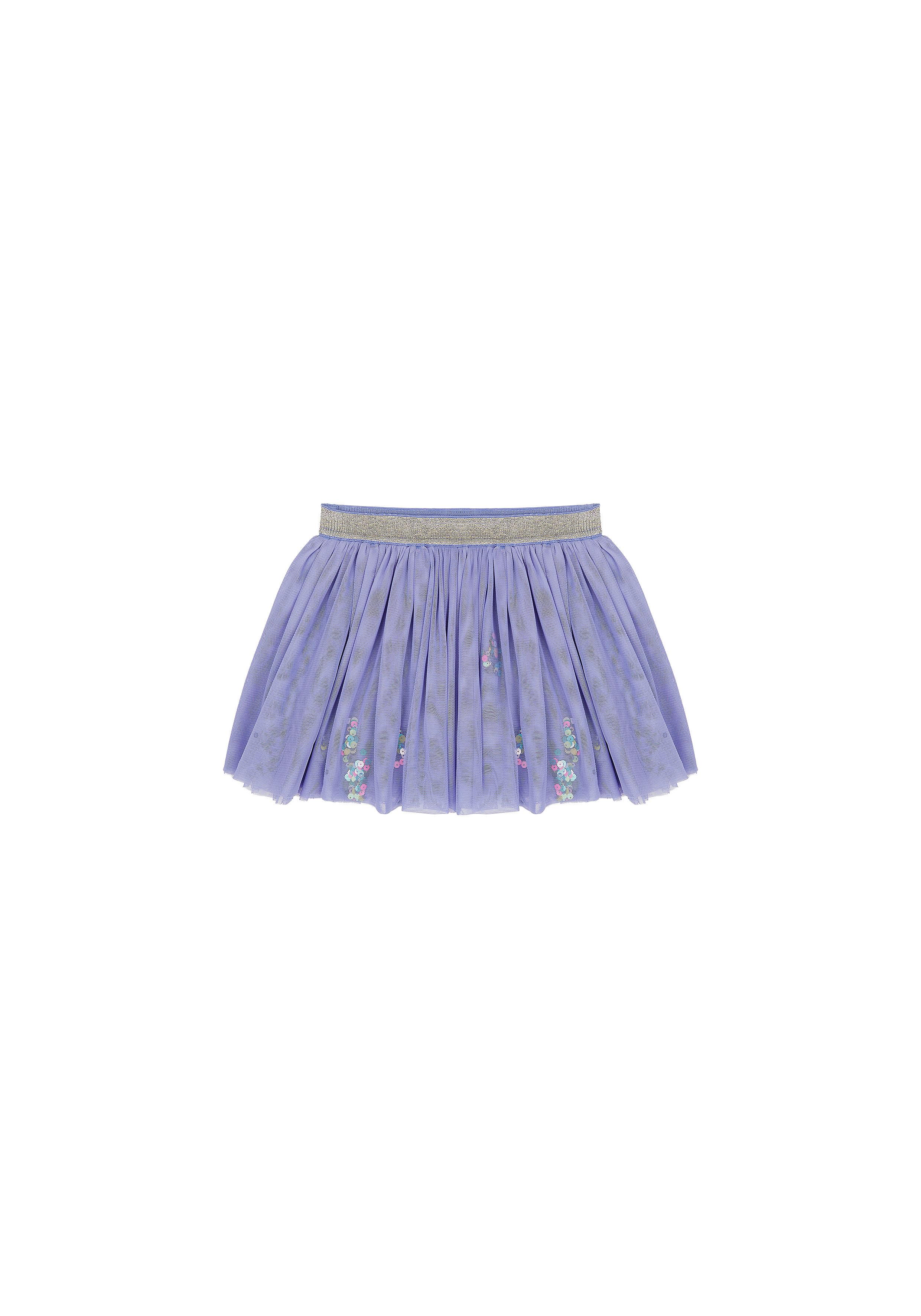 Mothercare | Girls Mesh Skirt Sequin Detail - Lilac