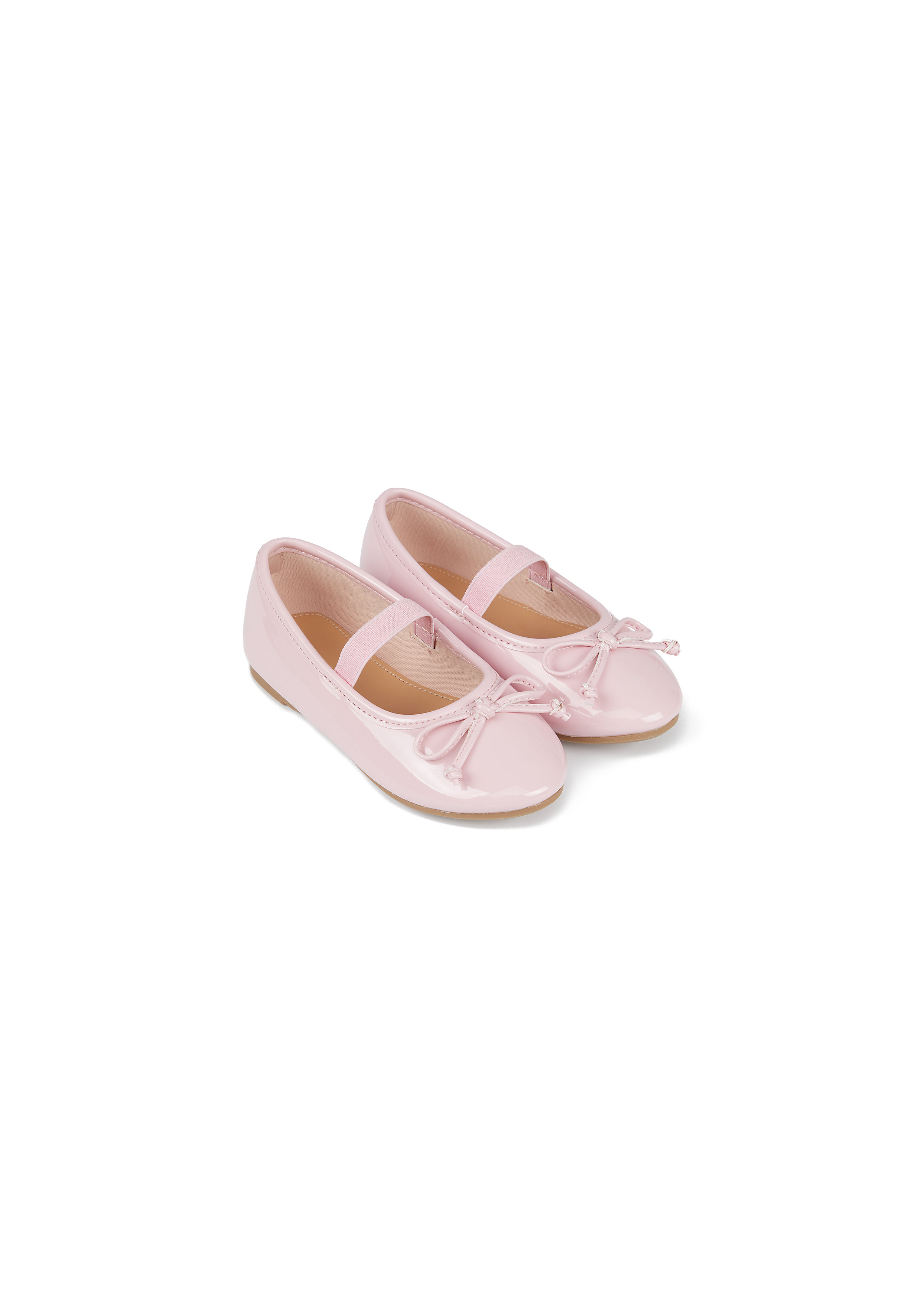 Mothercare | Girls Ballerina Shoes Bow Detail - Pink