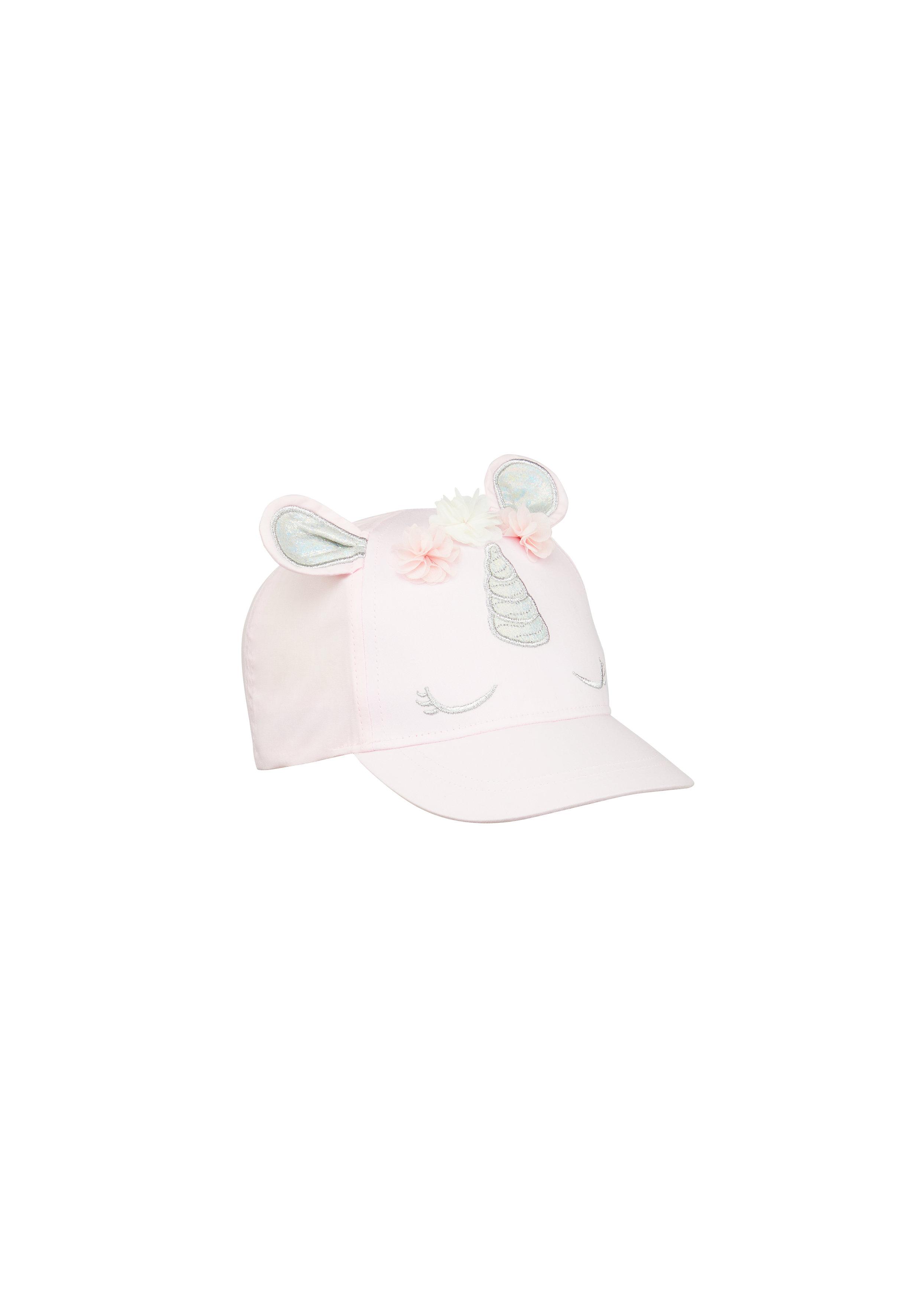 Mothercare   Girls Cap Unicorn 3D Ears - Pink