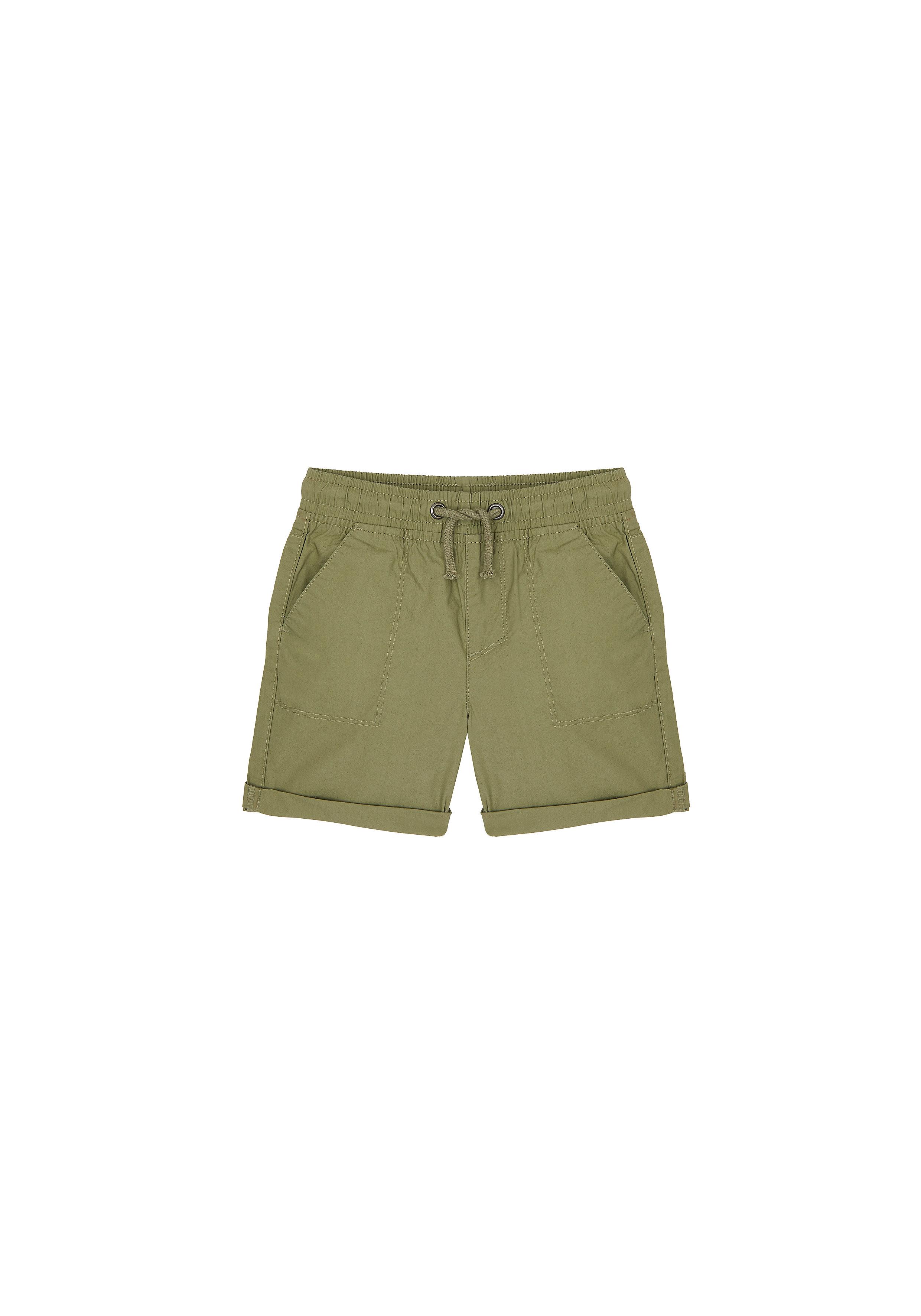 Mothercare | Boys Woven Shorts Rolled Up Hem - Khaki