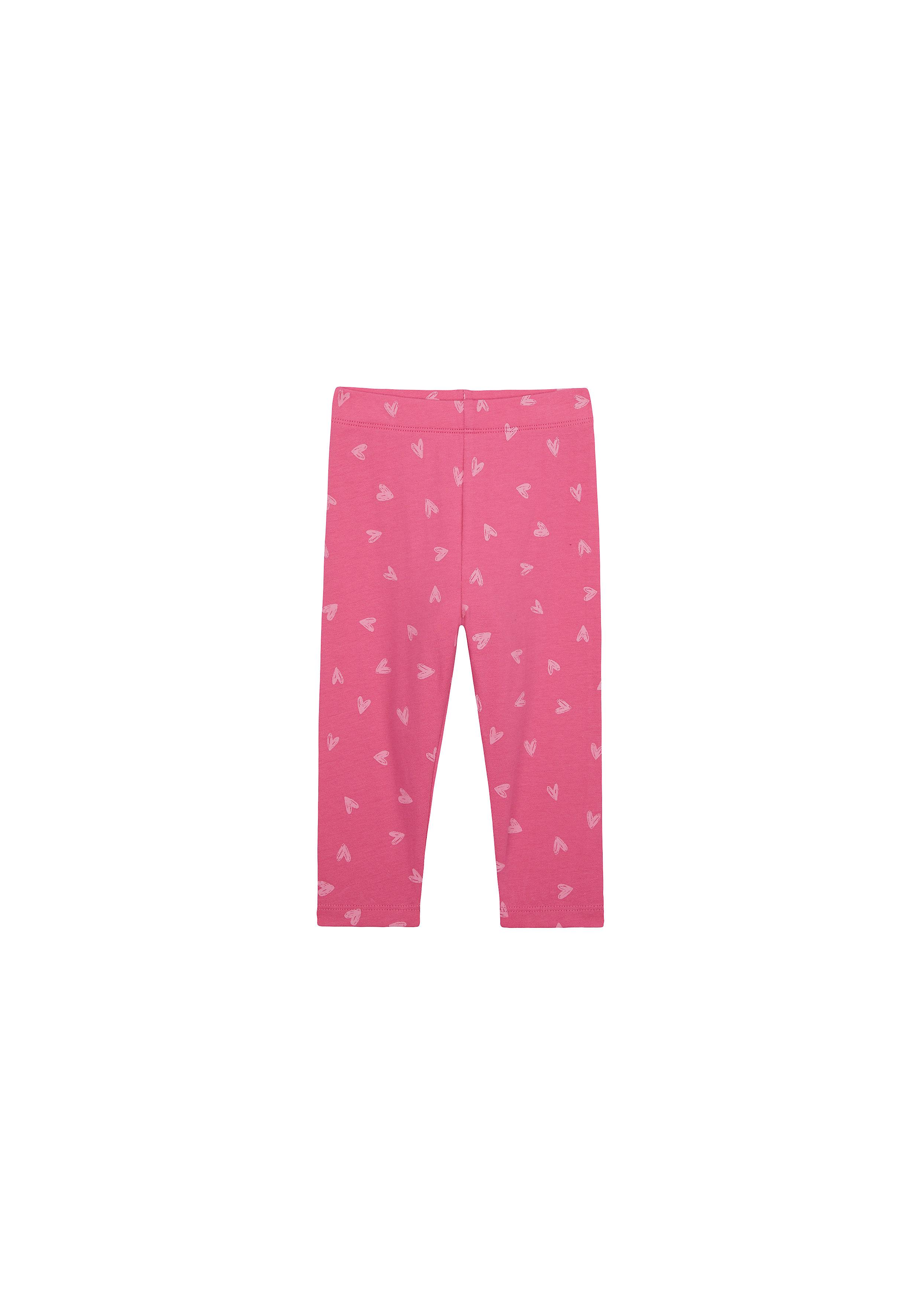 Mothercare | Girls Leggings Heart Print - Pink
