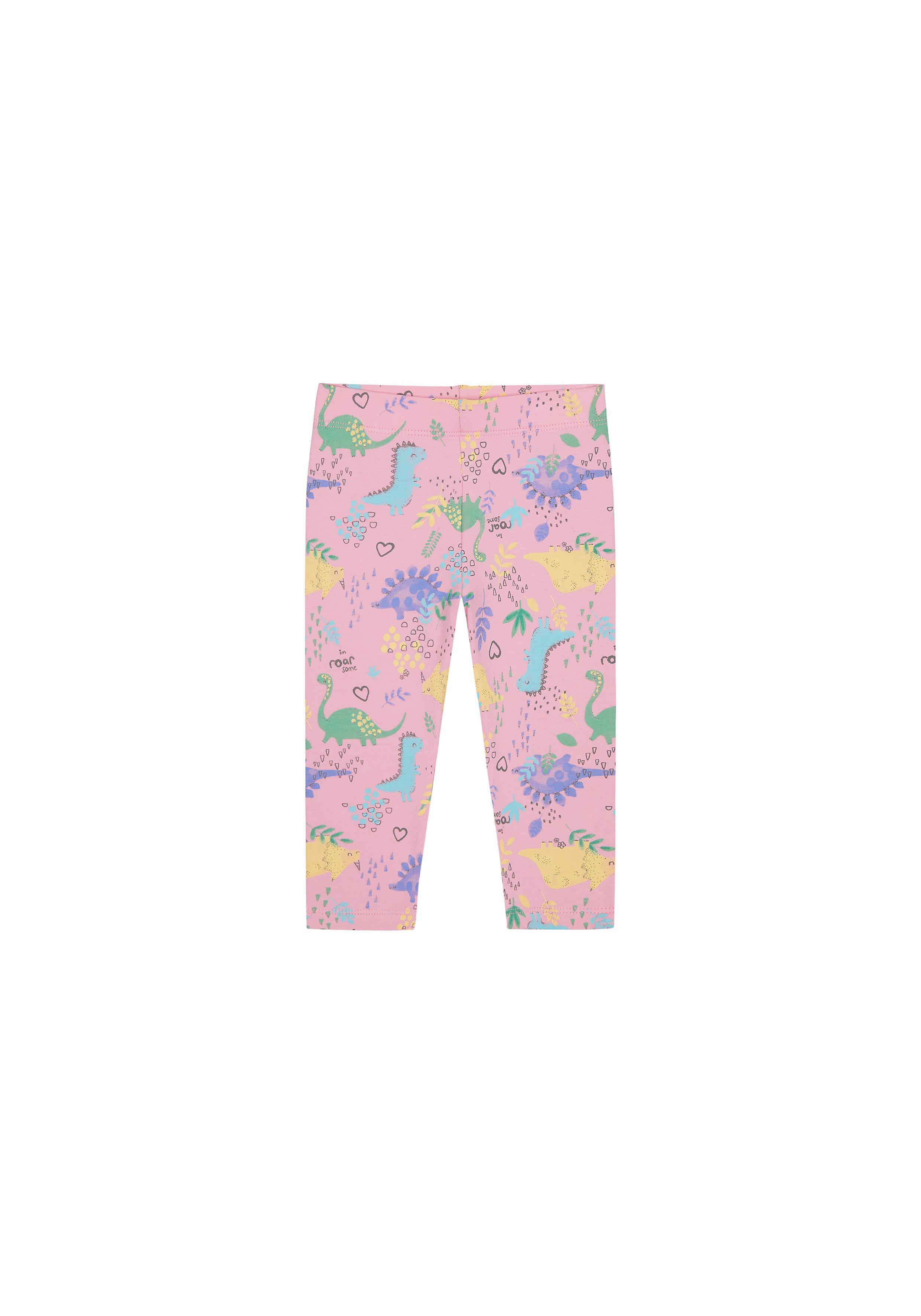Mothercare | Girls Leggings Dino Print - Pink