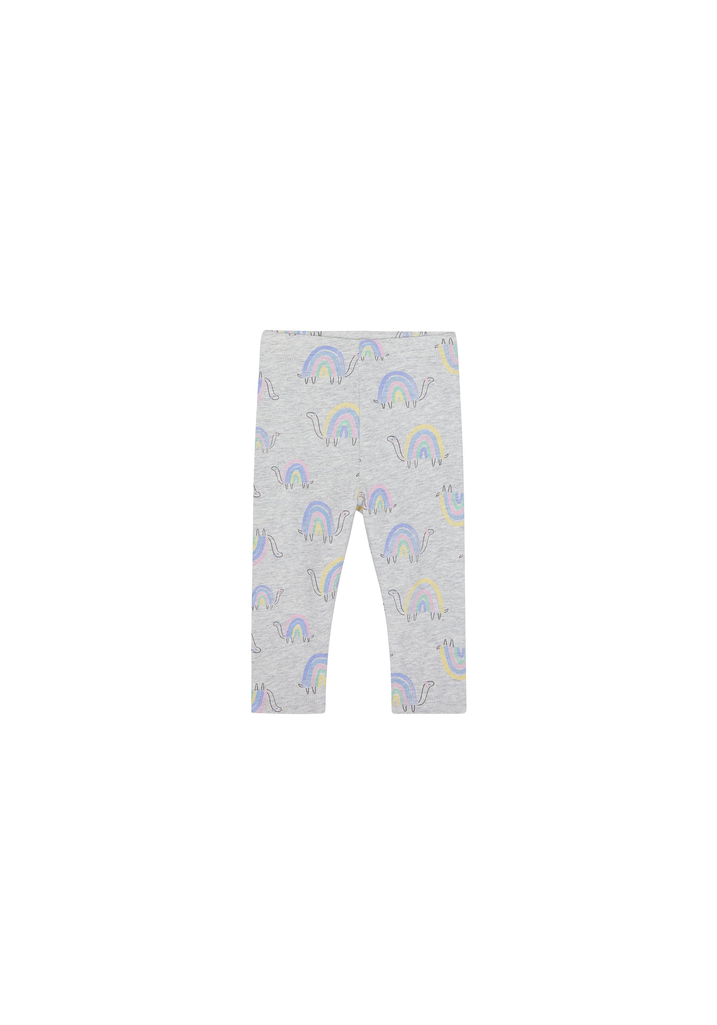Mothercare | Girls Leggings Rainbow Print - Grey