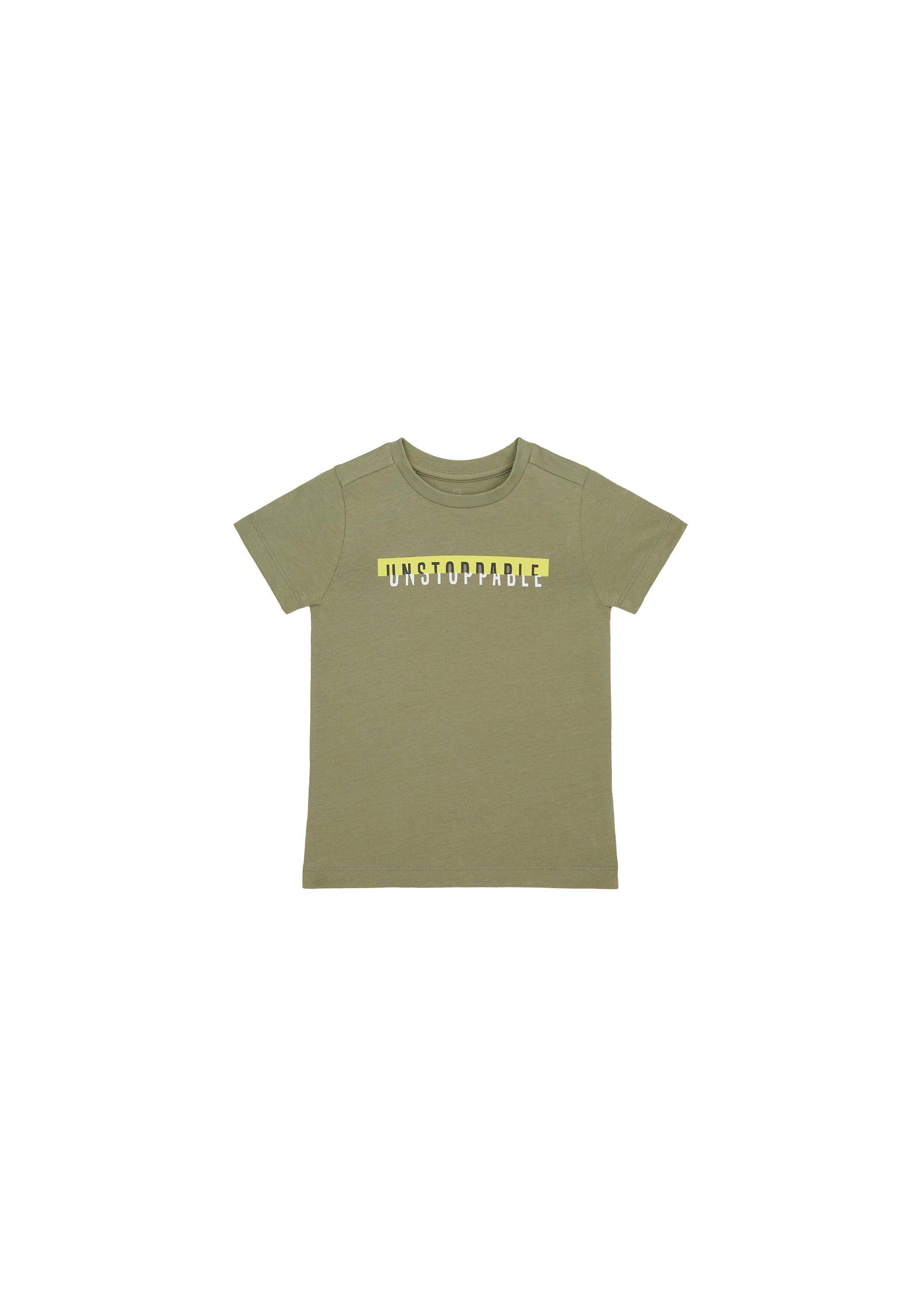 Mothercare   Boys Half Sleeves T-Shirt Text Print - Khaki