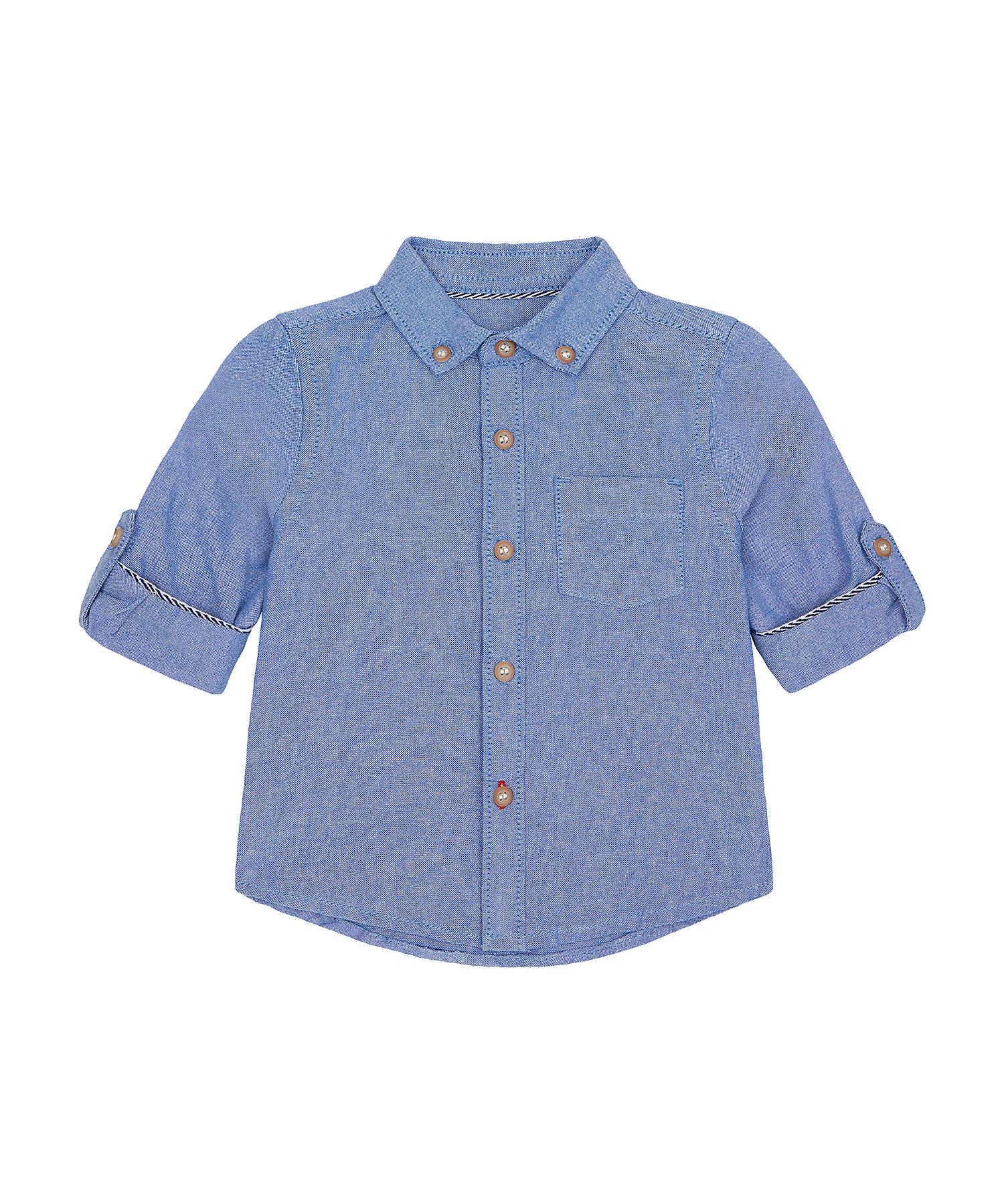 Mothercare | Boys Full Sleeves Oxford Shirt - Blue