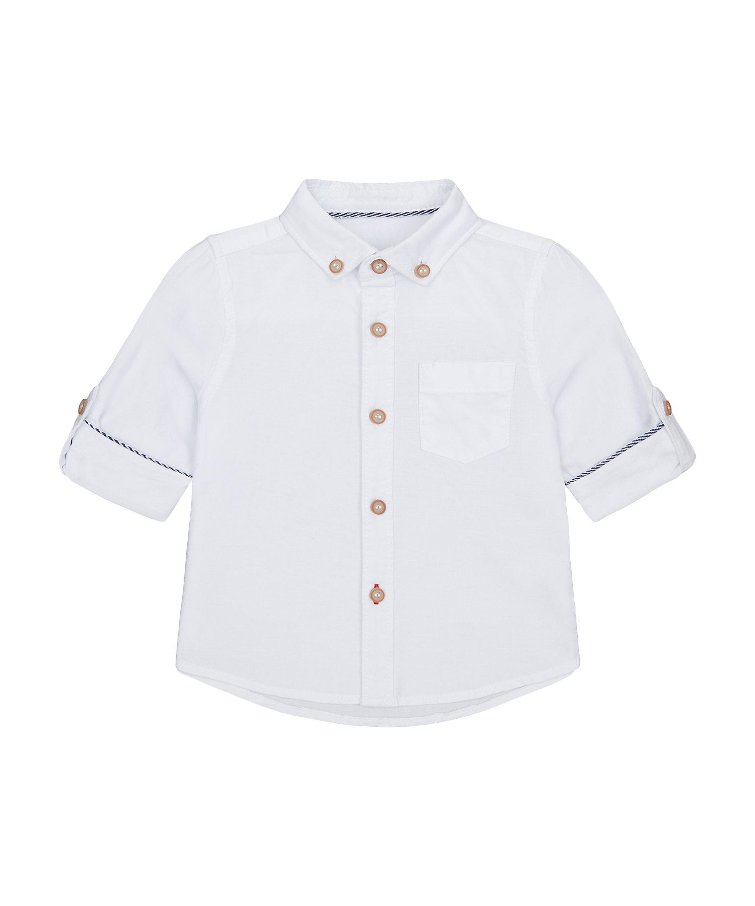 Mothercare | Boys Full Sleeves Oxford Shirt - White