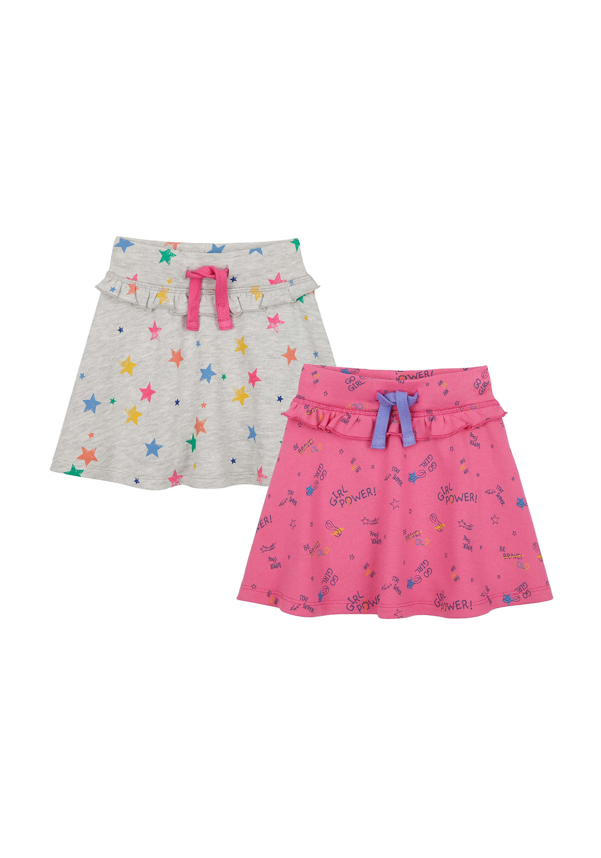 Mothercare   Girls Skirt Printed - Pink Grey