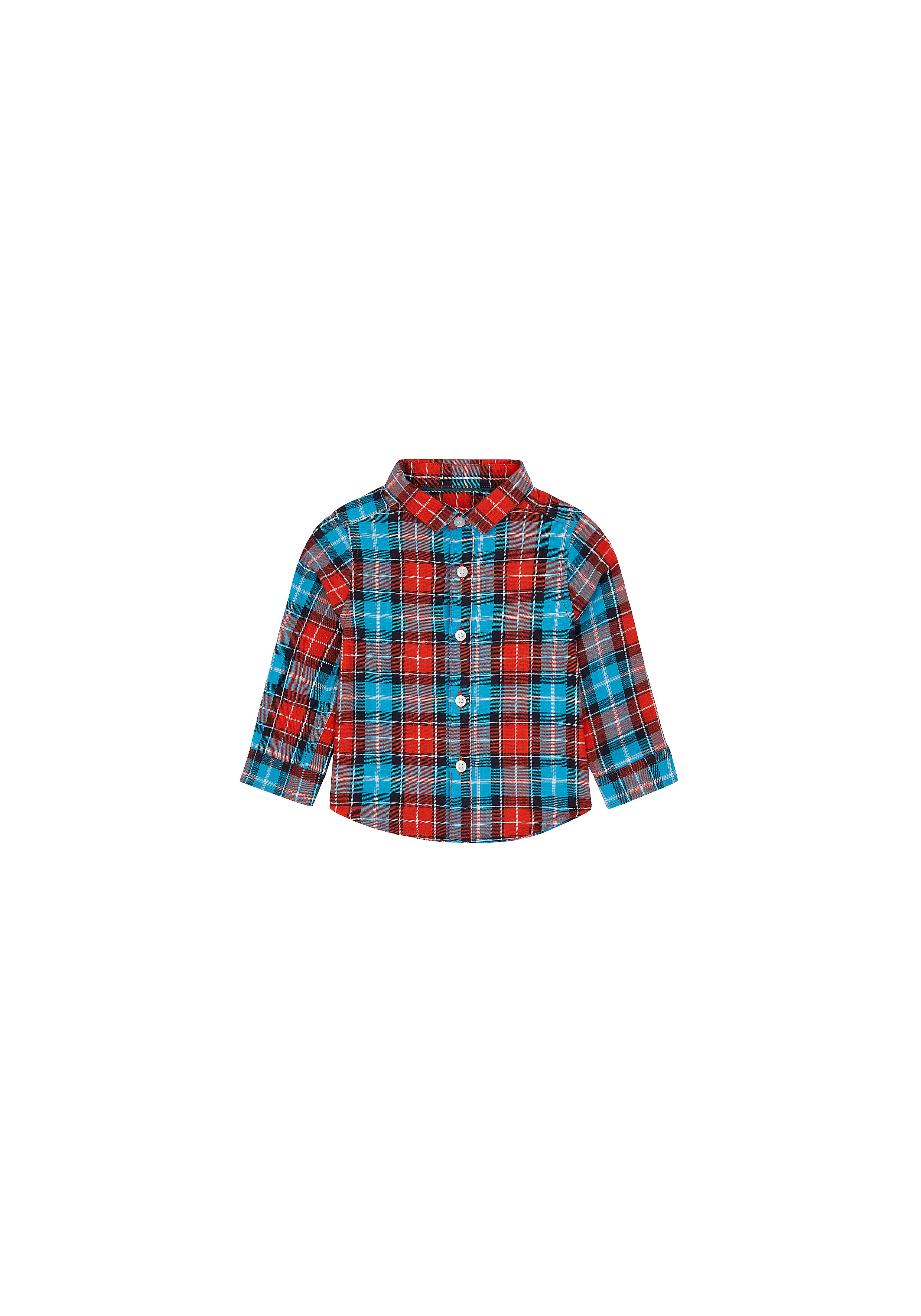 Mothercare | Boys Full Sleeves Check Shirt - Blue Red