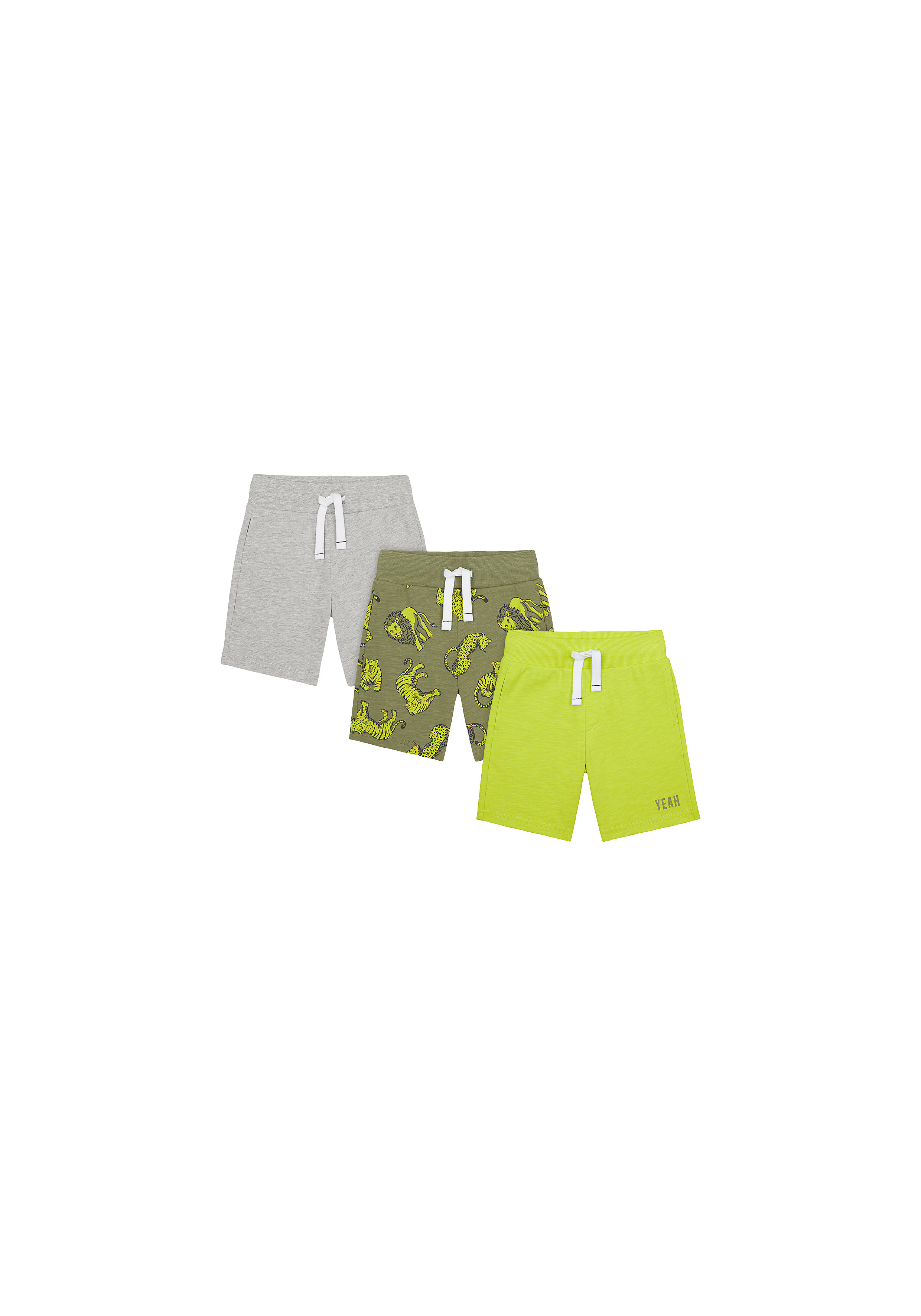 Mothercare | Boys Shorts Animal Print - Pack Of 3 - Multicolor